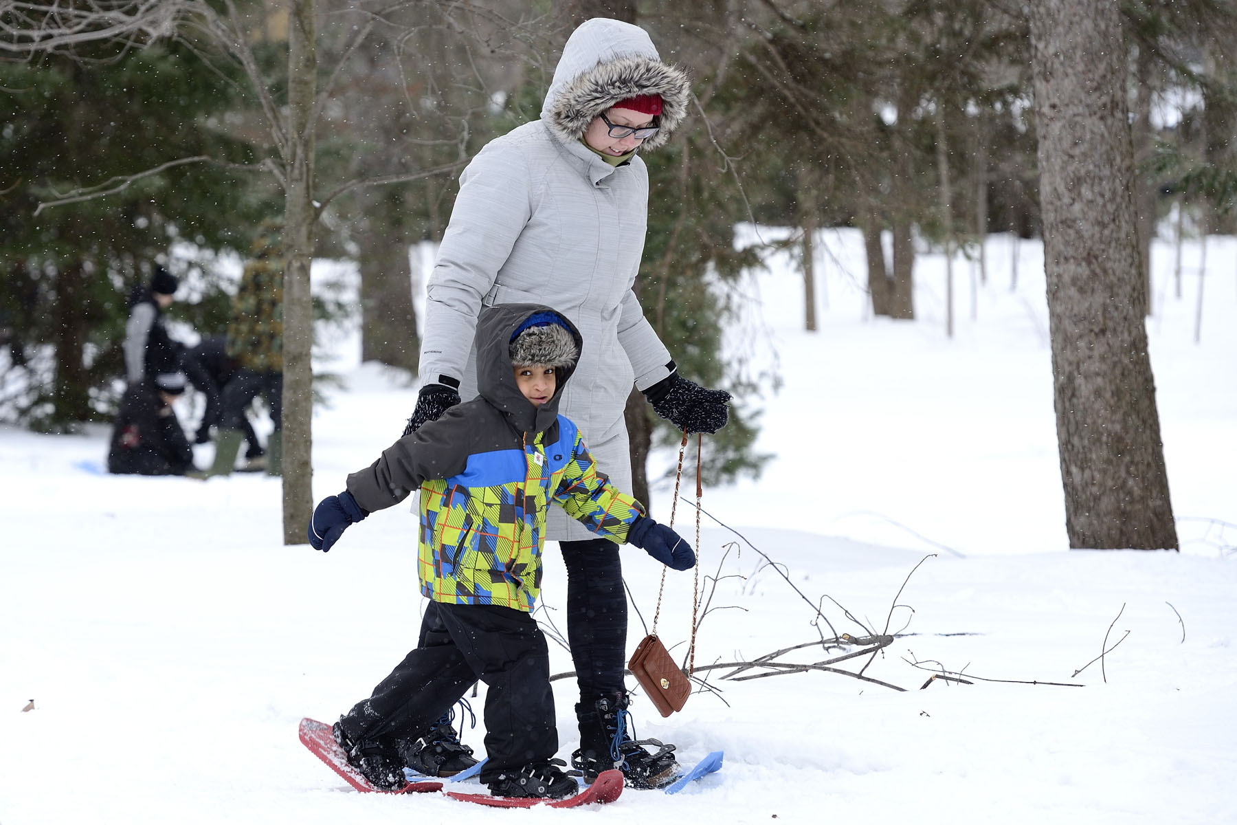 The young and the young-at-heart were invited to enjoy fun winter sports and traditions such as snowshoeing, cross-country skiing and curling on the grounds of the official residence and workplace of the Governor General.