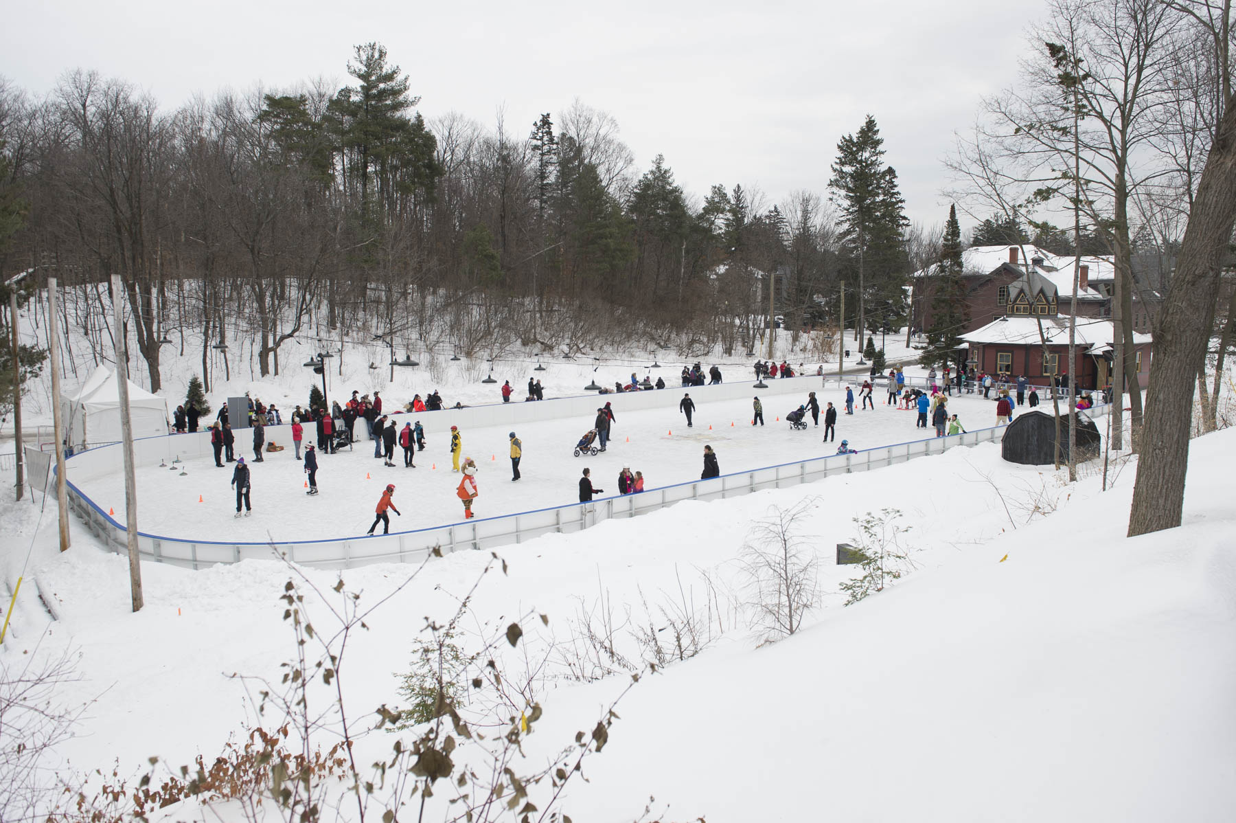 During Winter Celebration at Rideau Hall on January 27, 2018, young and old alike had fun outside while taking part in winter sports such as skating.