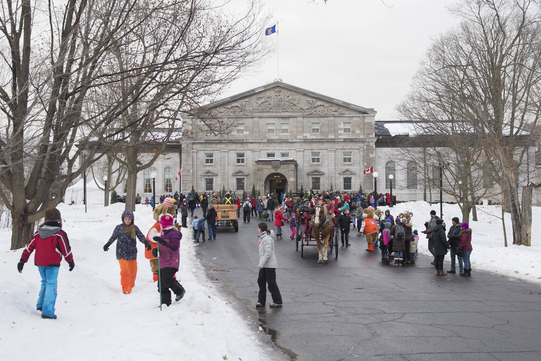 Thousands of people gathered at Rideau Hall for Winter Celebration on January 27, 2018.