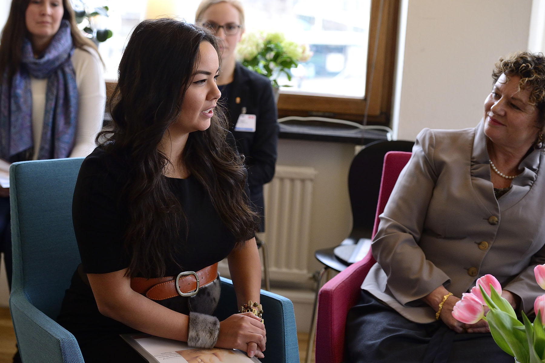 Ms. Maatalii Okalik, President of National Inuit Youth Council, was one of the Canadian delegates who visited Haga Gothenburg with Mrs. Johnston.