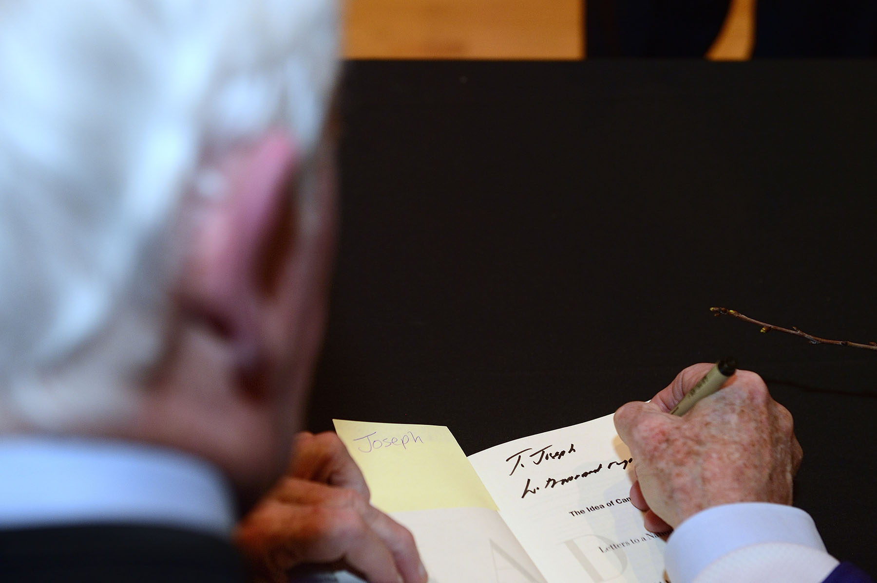 The Governor General signed his new book, The Idea of Canada: Letters to a Nation.