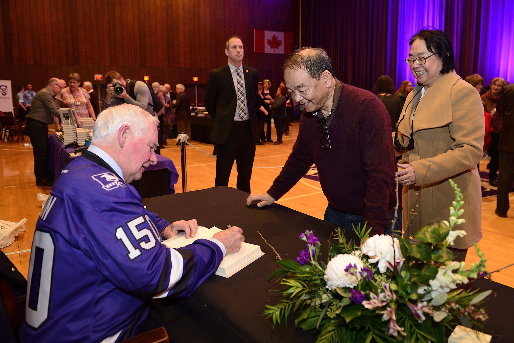 The event ended with a reception, during which time the Governor General took part in a signing for his book, The Idea of Canada: Letters to a Nation.