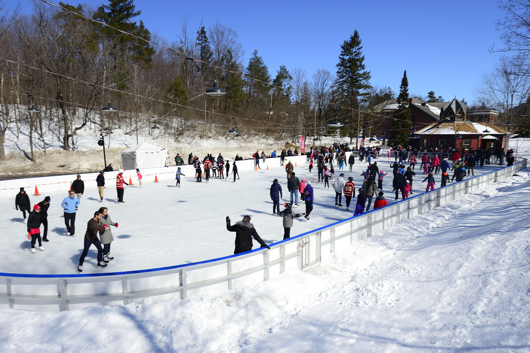 Following the event, guests and members of the public enjoyed Rideau Hall's Historic Skating Rink.