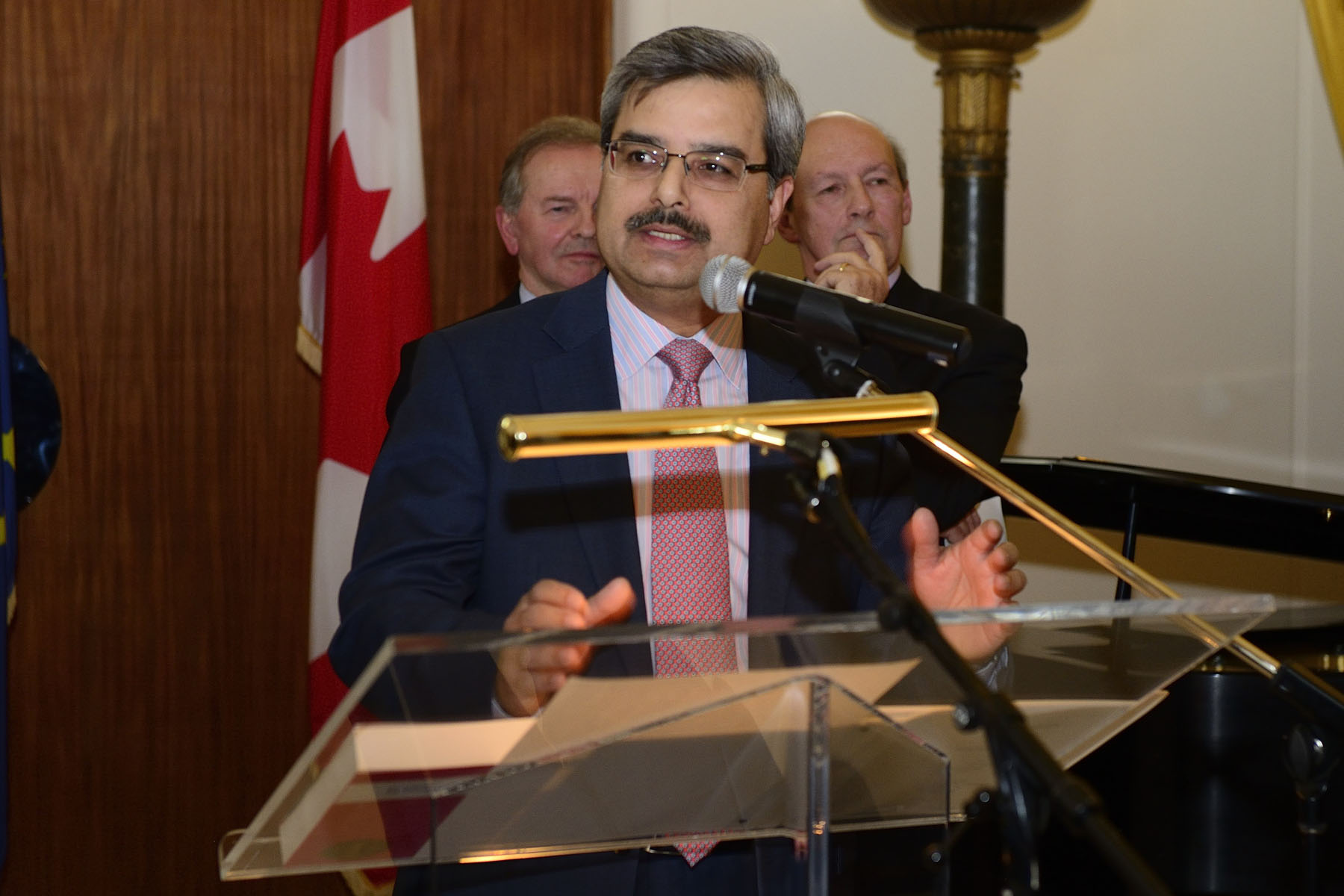 Mr. Deepak Chopra, President and CEO of Canada Post, also delivered remarks.