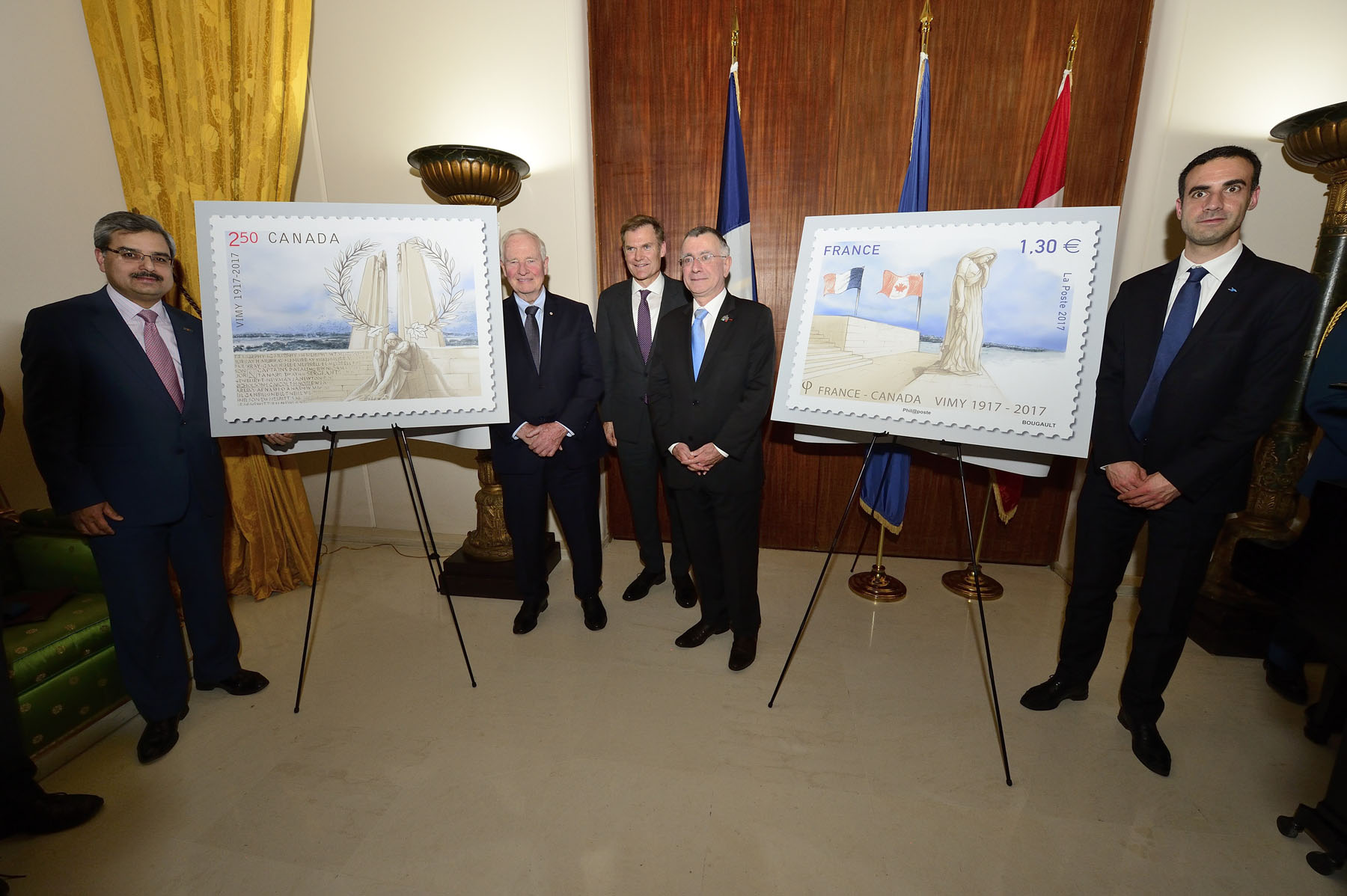 Both stamps were designed to honour the nearly 3 600 Canadian soldiers who were killed in action and the more than 7 000 who were wounded during the Battle of Vimy Ridge.