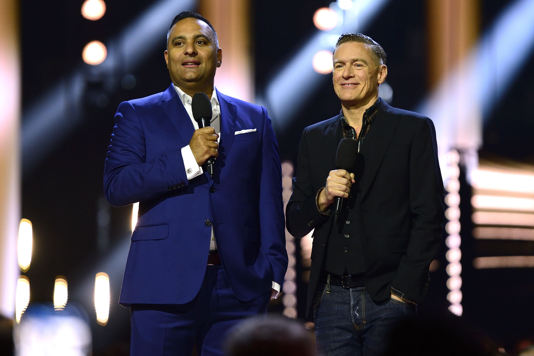 Comedian Russell Peters and musician Bryan Adams hosted this year's show.