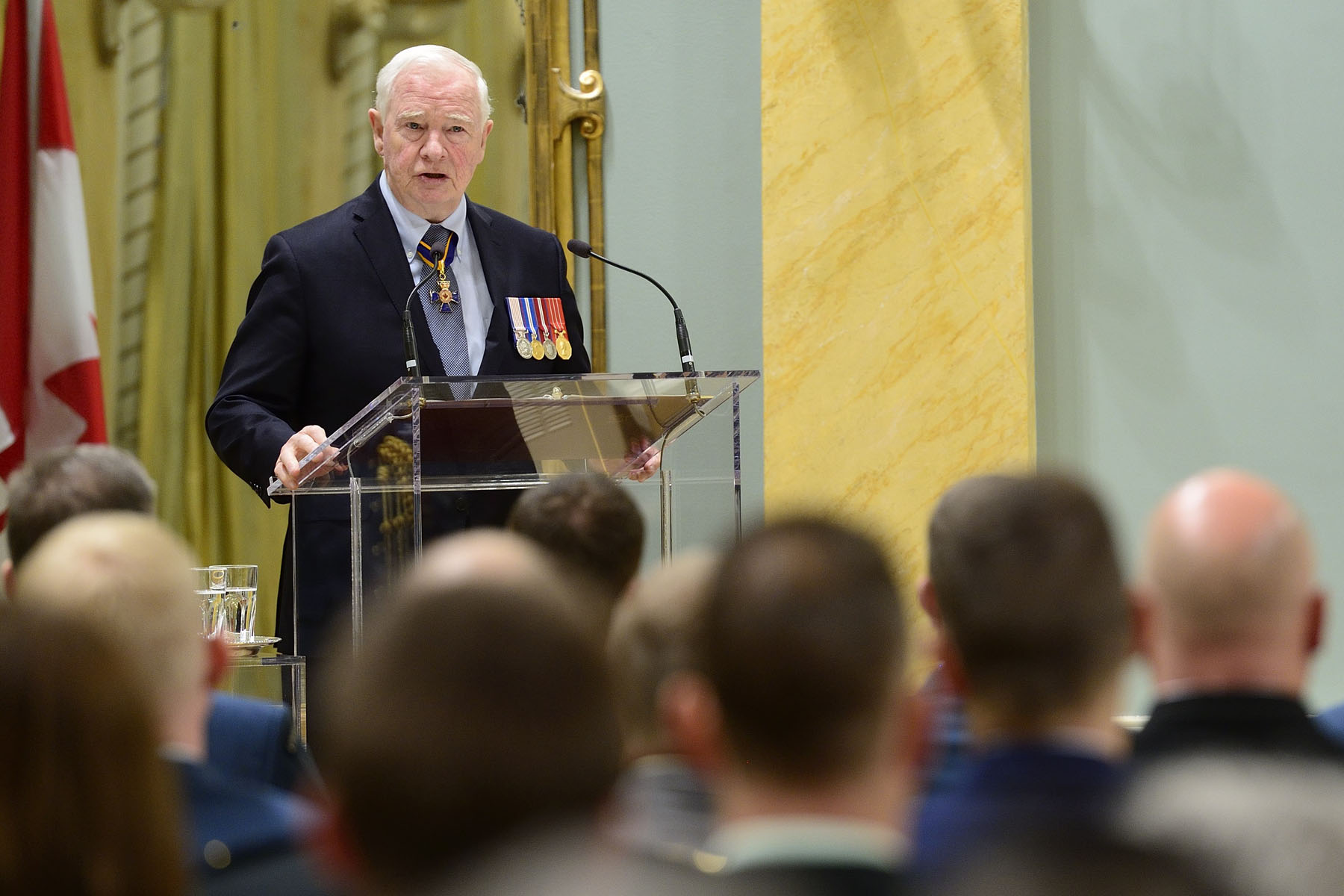 """Today, we celebrate acts of meritorious service and bravery. With these awards, we ensure two things: The first being that we can share your stories widely, that all Canadians are made aware of your actions. The second being that we can say thank you for all that you do,"" said the Governor General."