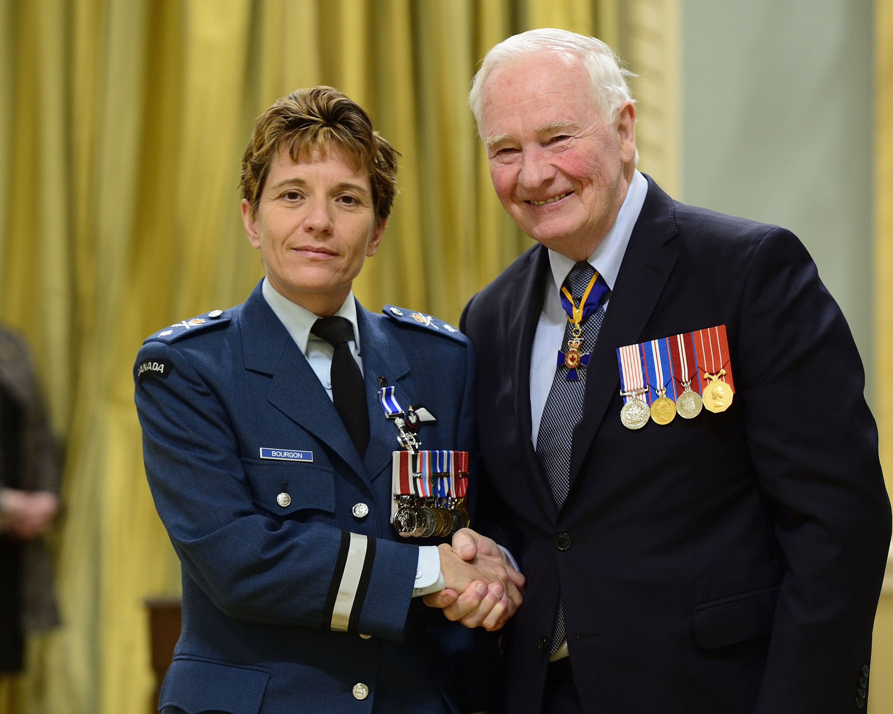 As commander of Joint Task Force-Iraq from May to November 2015, and through her outstanding leadership, Colonel Marie Hélène Lise Bourgon, M.S.C., C.D. ensured the success of a combat mission against the Islamic State in Iraq and Syria. She successfully managed numerous issues, with particular attention given to the morale and well-being of over 500 soldiers under her command. She provided an exceptional level of service, which contributed to strengthening Canada's reputation within the international coalition.