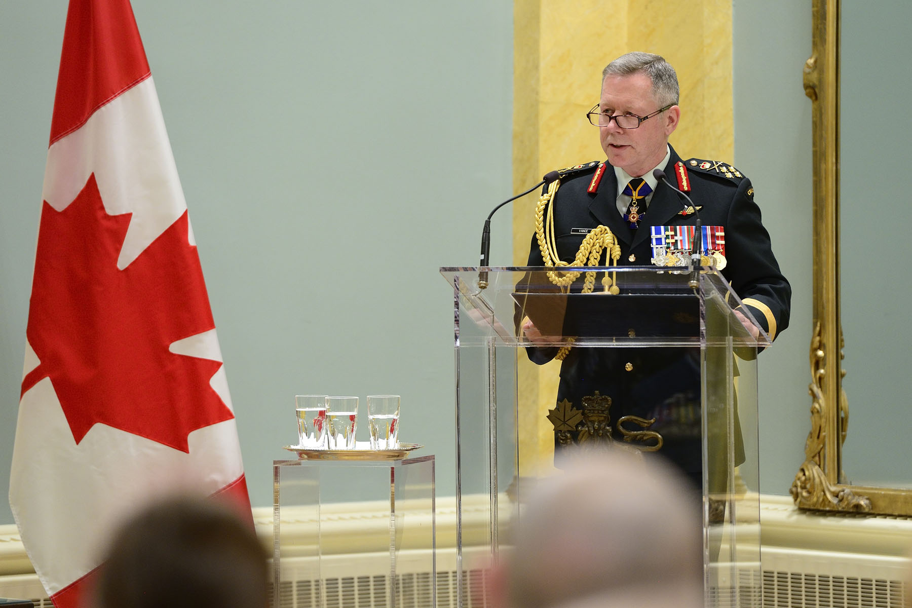 Military personnel were also thanked for their service by the Chief of the Defence Staff, General Jonathan Vance.