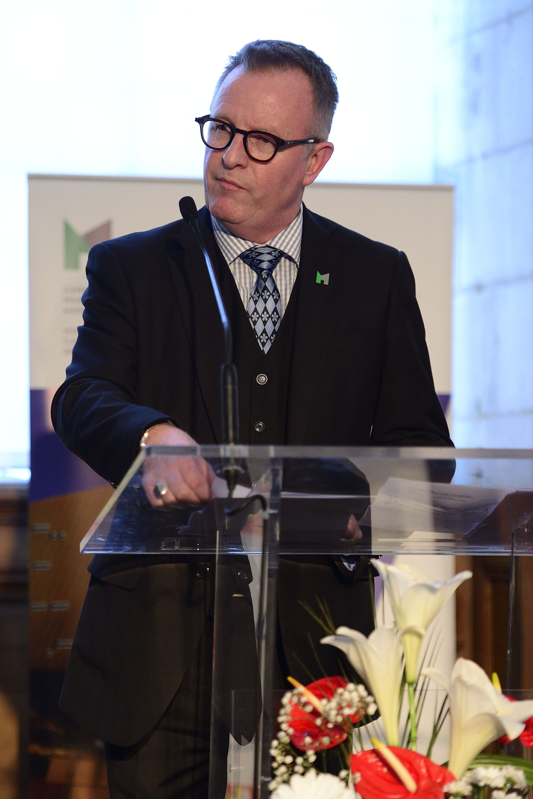 Following the viewing of the exhibition, Their Excellencies attended a reception hosted at the museum. Mr. Mark O'Neill, President and CEO of the Canadian War Museum and the Canadian Museum of History, delivered remarks.