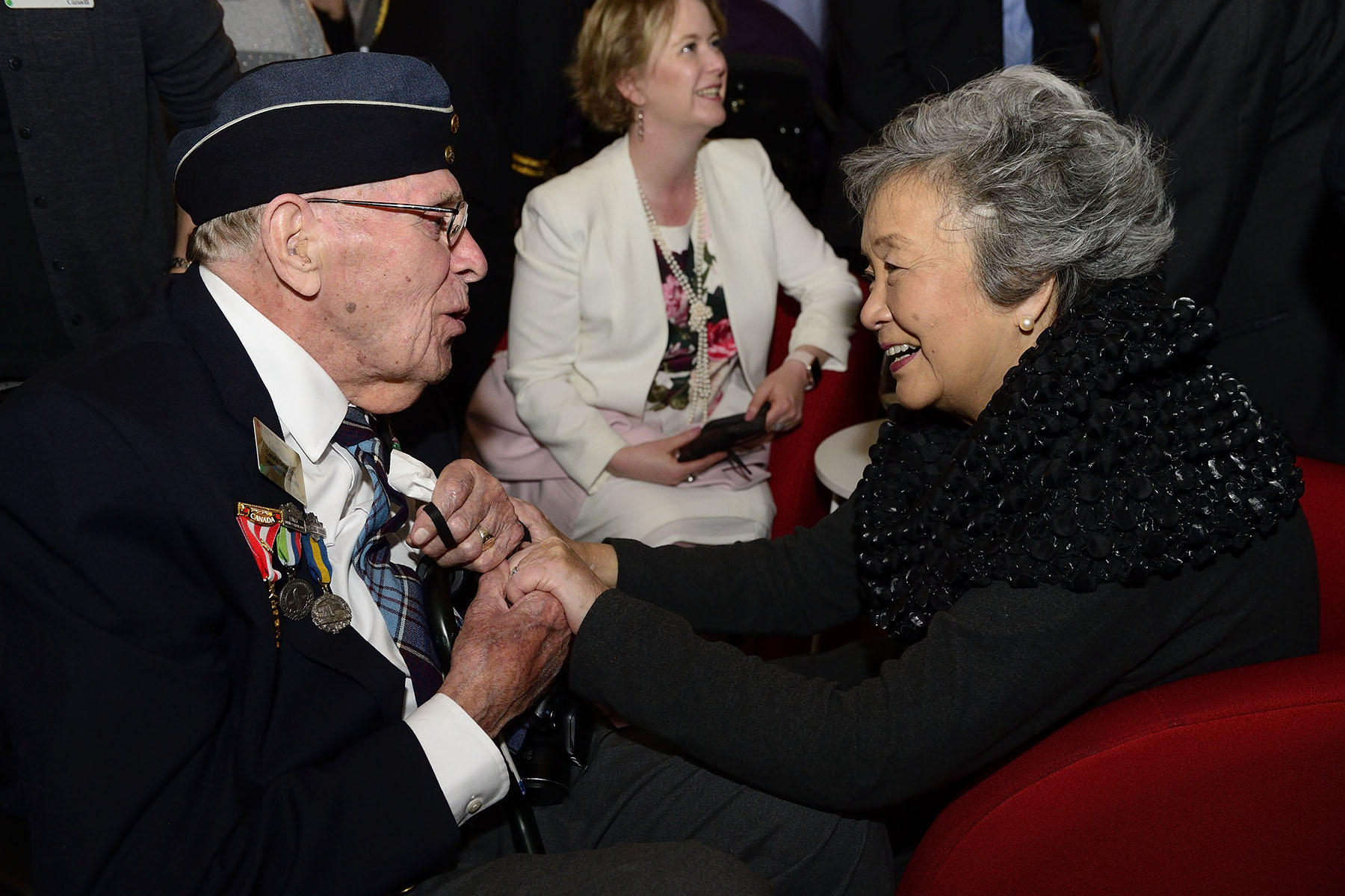 The Right Honourable Adrienne Clarkson, 26th Governor General of Canada, was also in attendance and spoke with veterans.