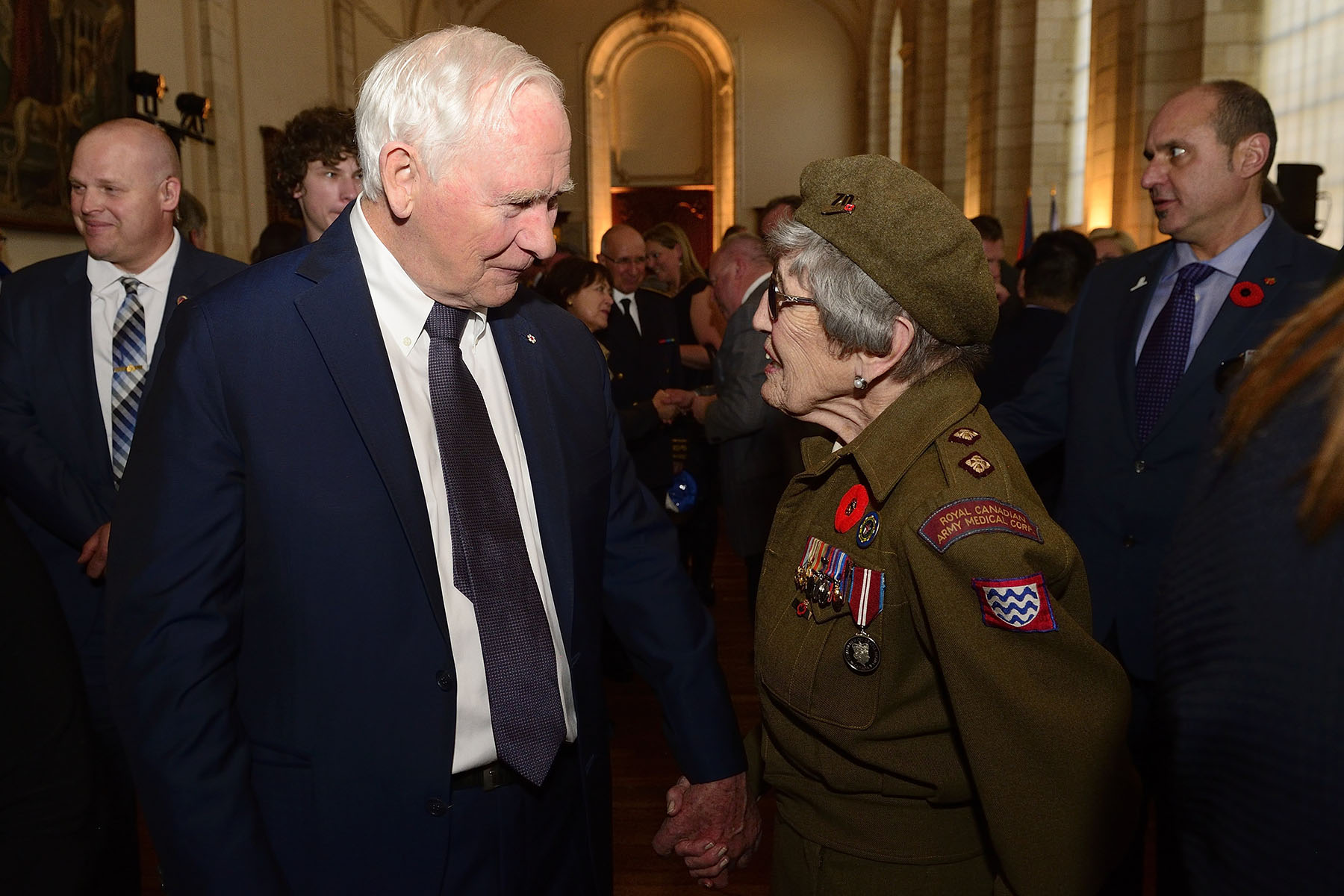 His Excellency also had the chance to meet with veterans who attended the special reception.