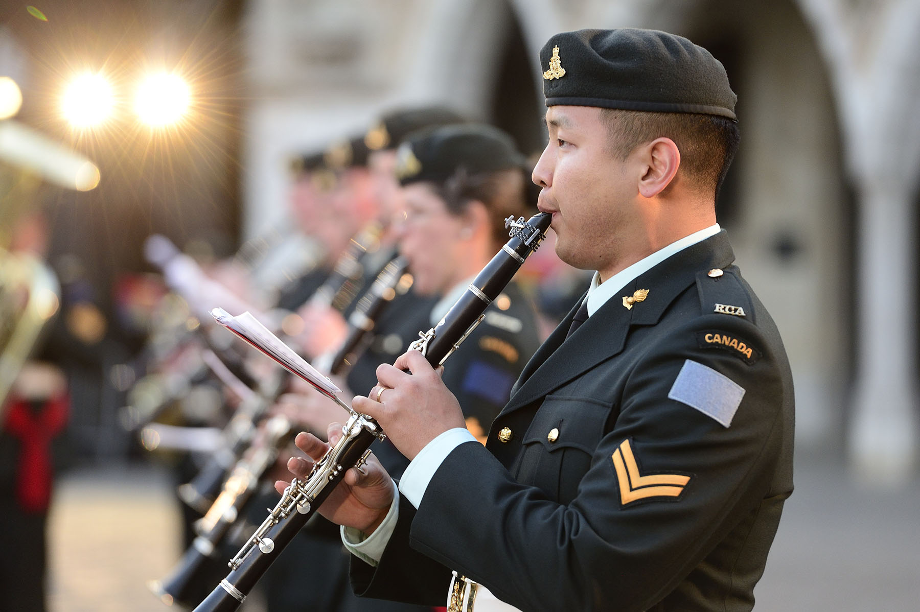 The concert featured the Canadian Armed Forces Band.