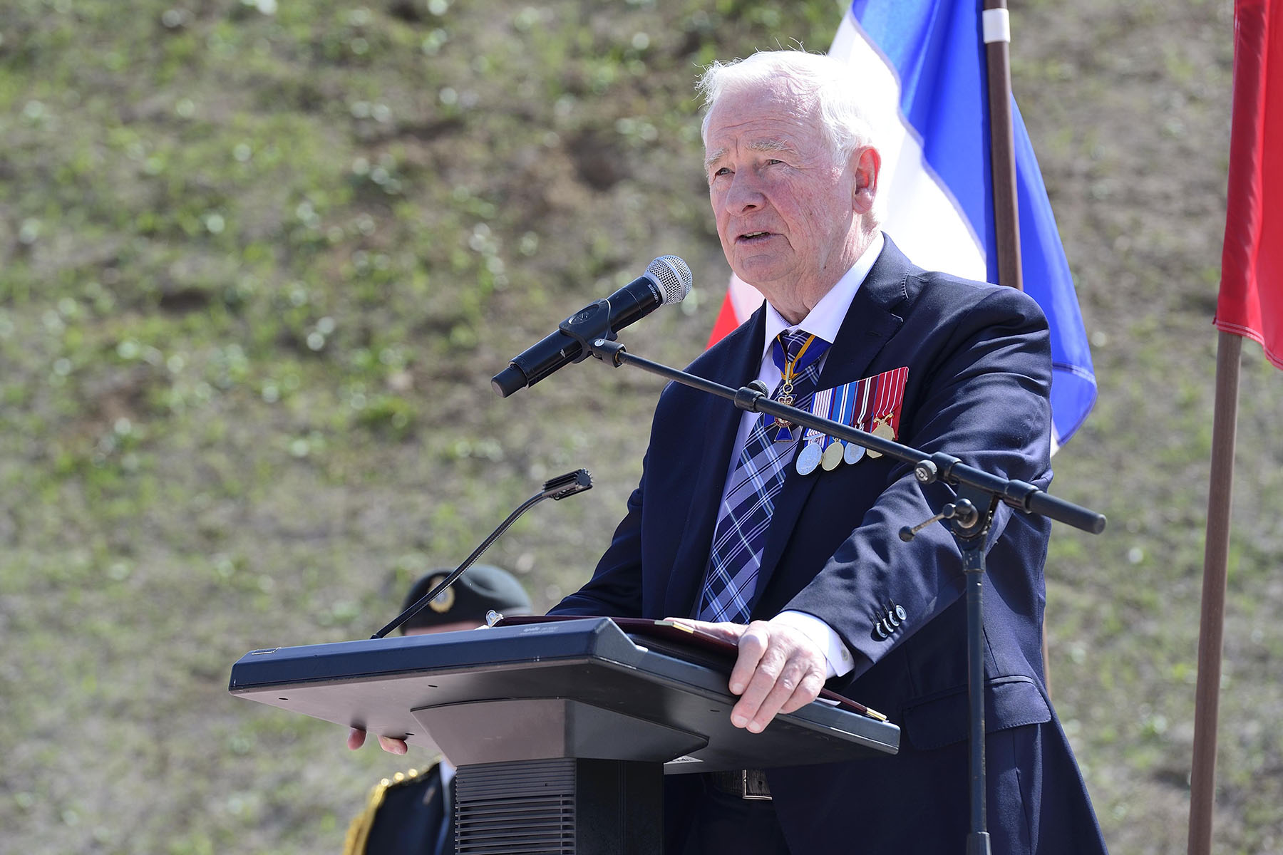 """This memorial is the result of the vision and dedication of a small team of volunteers,"" said His Excellency. ""For the last five years, they have given so much of themselves to create this memorial. As patron of the Hill 70 project, I thank them deeply for their efforts."""