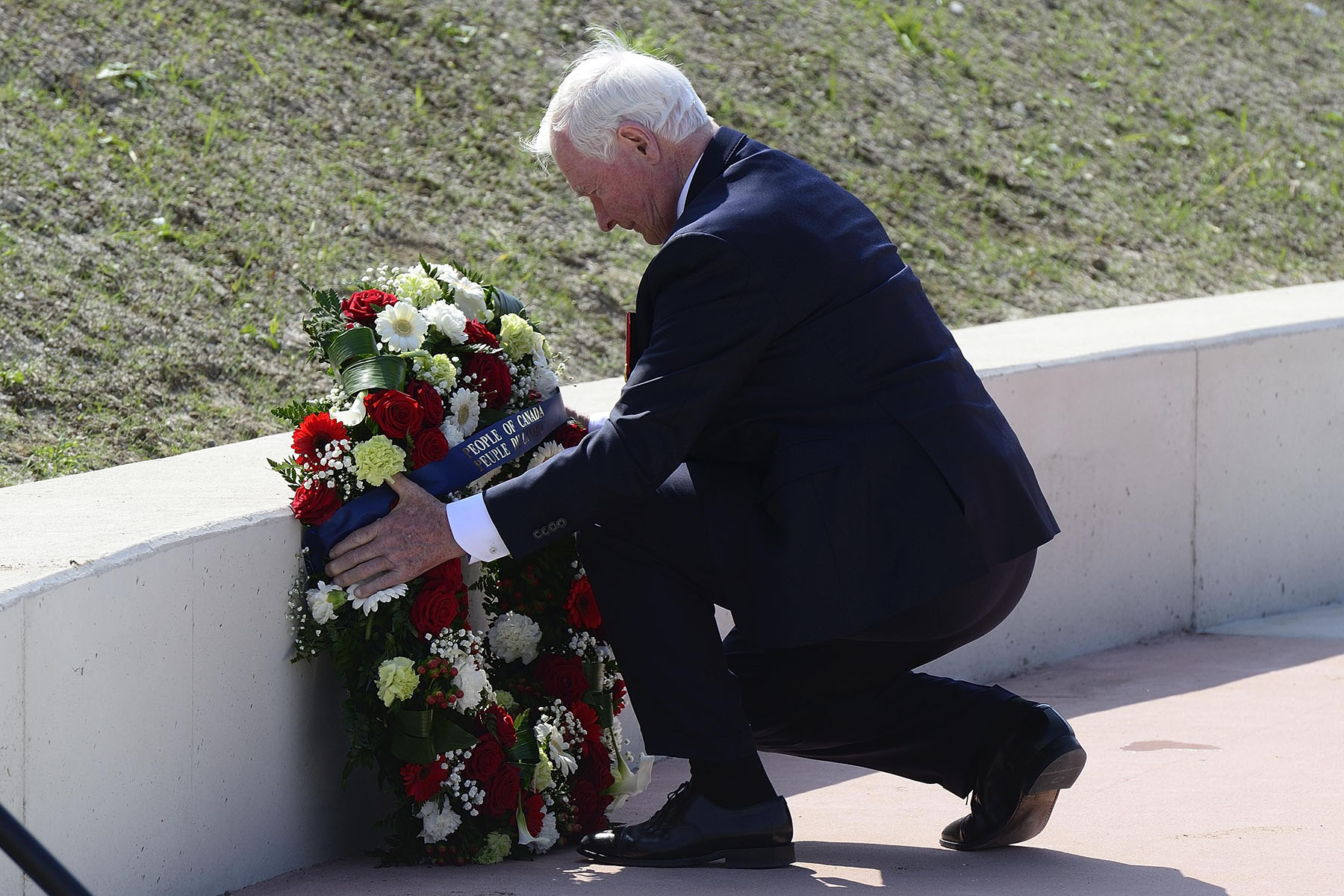 His Excellency laid a wreath on behalf of the people of Canada.