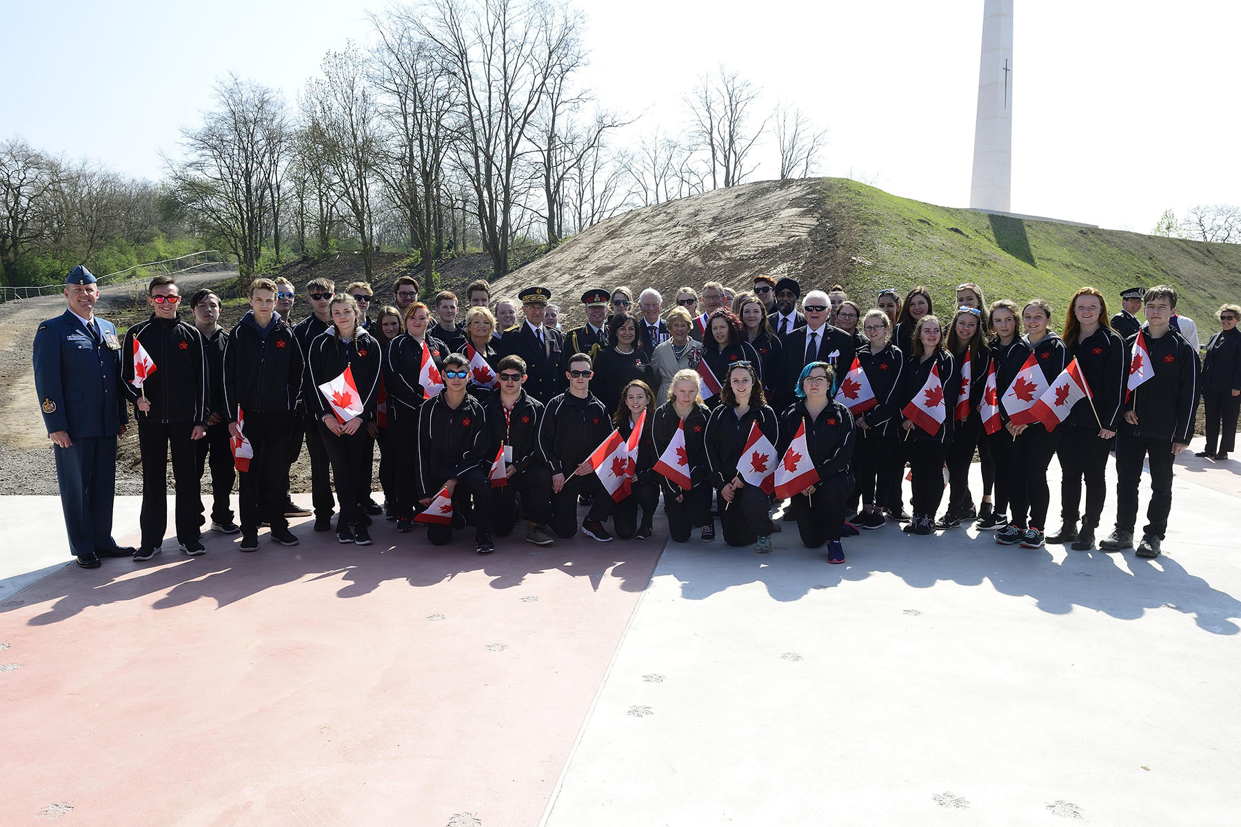 The youth of Canada were represented by students of Napanee District Secondary School, who are charged with carrying forward the story of Hill 70 and of those soldiers who sacrificed so much.