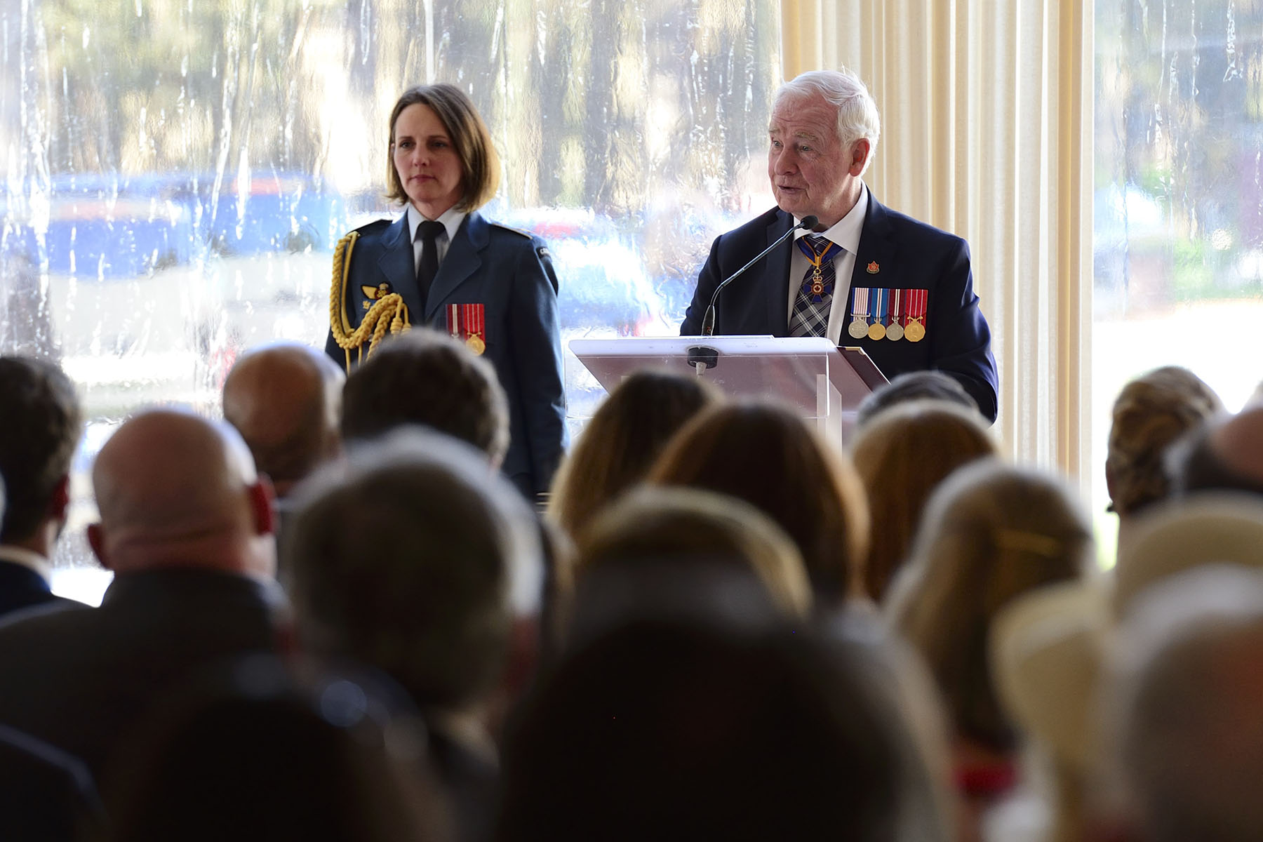 """The Canadian National Vimy Memorial is so important to our country that it was designated a national historic site,"" said His Excellency. ""The Battle of Vimy Ridge marked a significant stage in Canada's evolution. Now, to inform the many thousands of people who visit this site each year, we have this impressive visitor's centre. It will tell this important story to all Canadians, but also to hundreds of thousands of visitors from other nations. To no small degree, the Vimy monument, this historical landscape still scarred by the shells of 100 years ago, and now this education centre represents Canada to the world."""