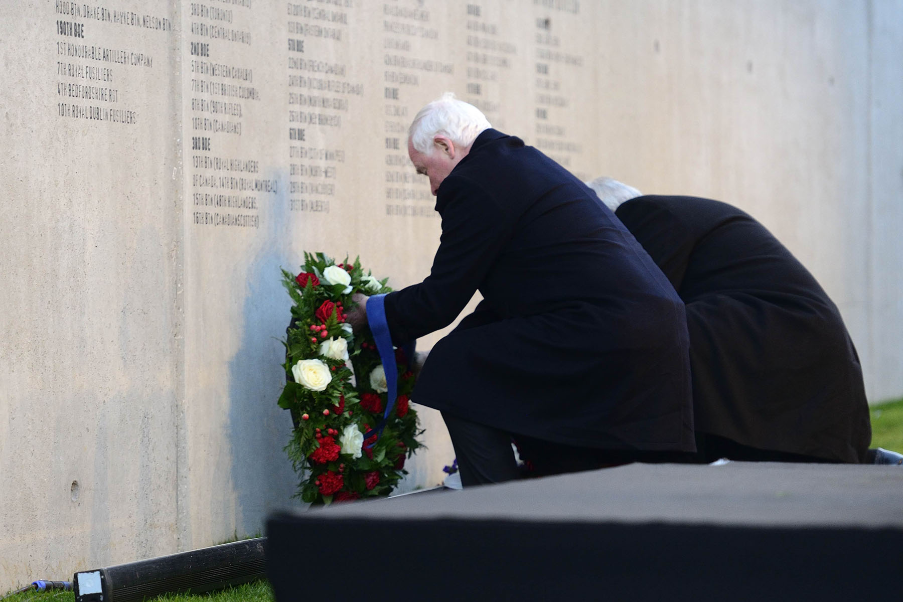As commander-in-chief of Canada, the Governor General laid a wreath on behalf of the people of Canada in memory of the Canadian soldiers who lost their lives in this battle.