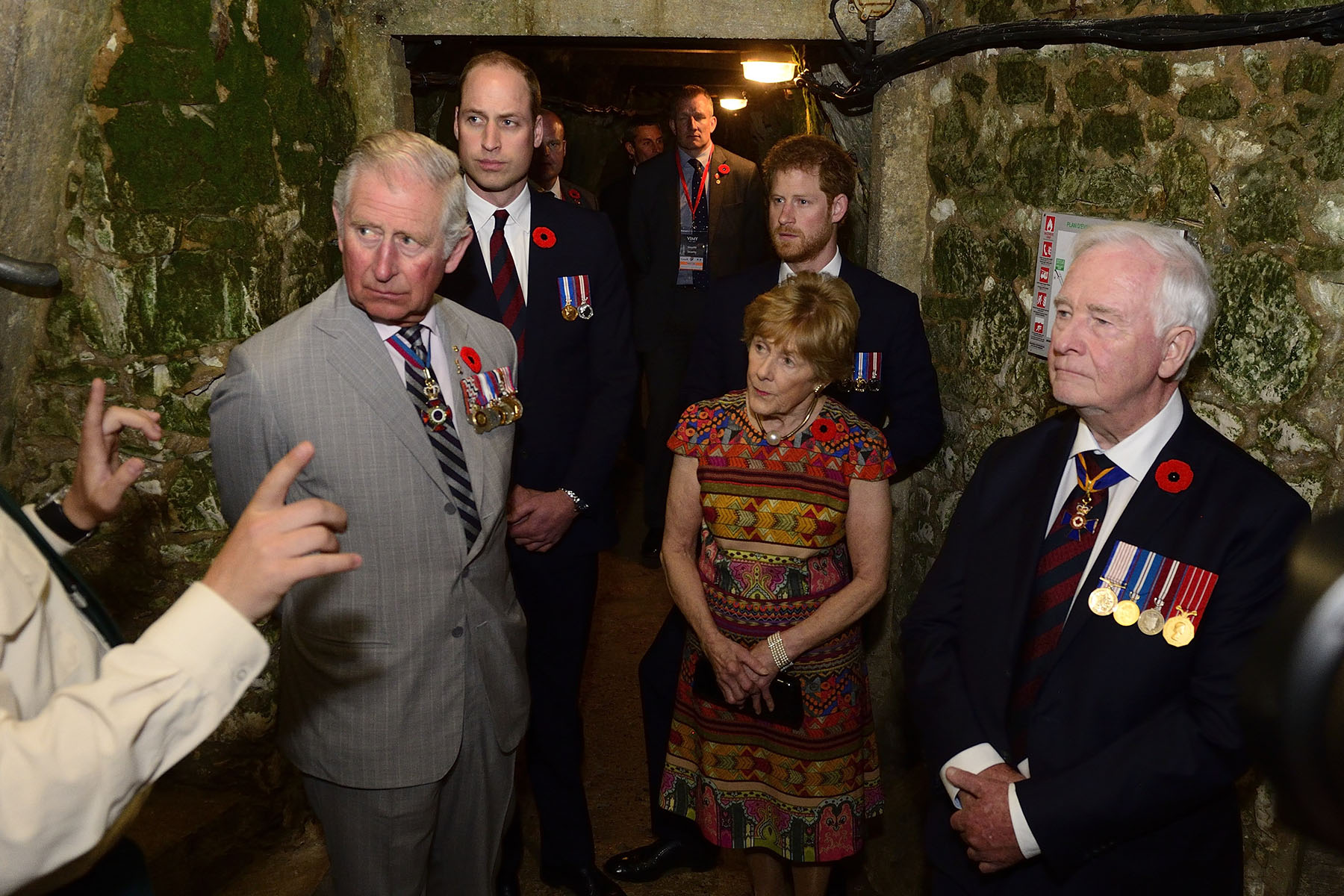 Their Excellencies toured the preserved trench and tunnel systems of Vimy. They were joined by Their Royal Highnesses the Prince of Wales, the Duke of Cambridge and Prince Harry.