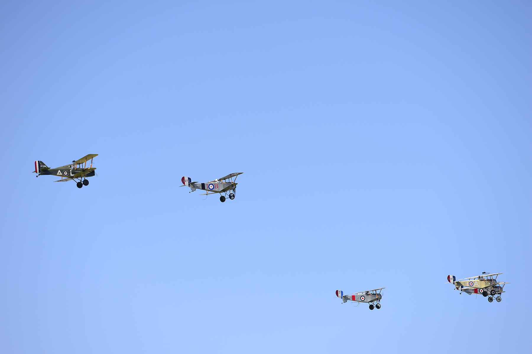 The ceremony included a fly-past of vintage aircraft.