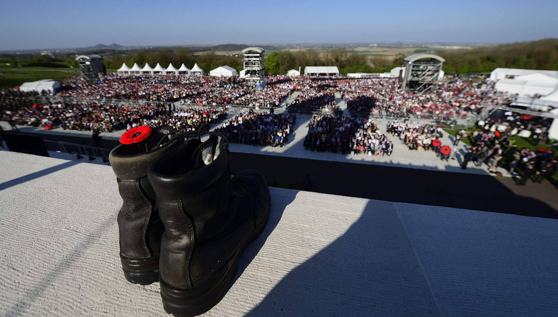 The ceremony was also built on the strong symbolism associated with the history of the battle and the Canadian values that are carved into the monument and that remain relevant today.