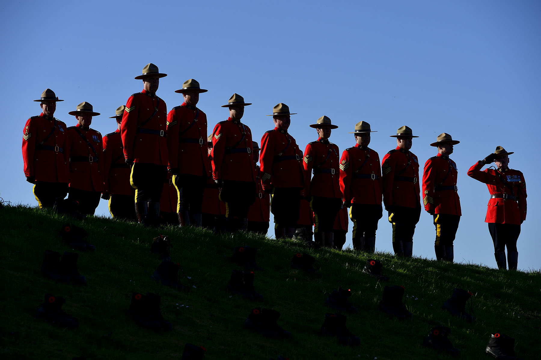 The Royal Canadian Mounted Police also participated in the ceremony.