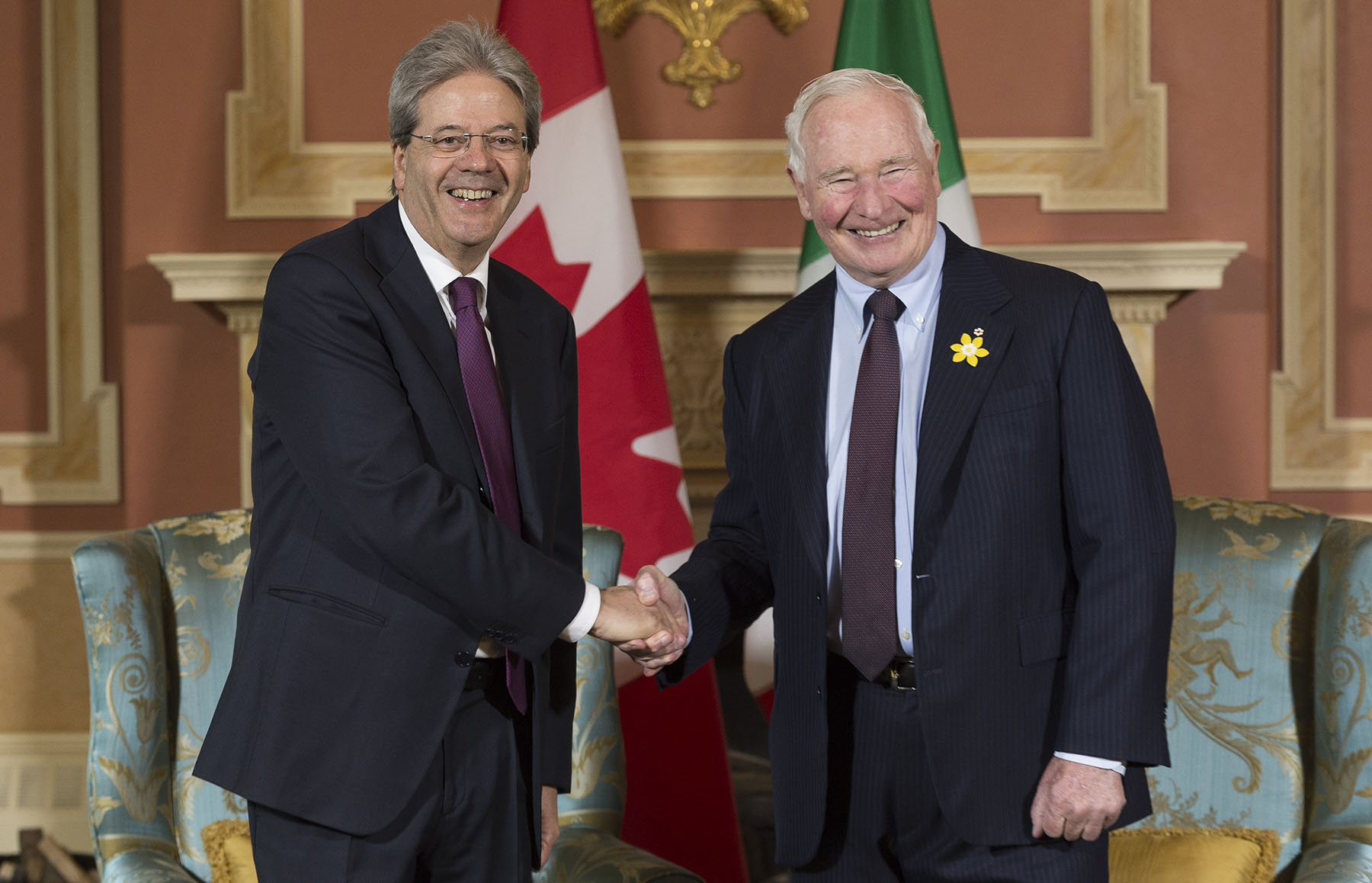 Prime Minister Gentiloni was in Canada on April 20 and 21, 2017.
