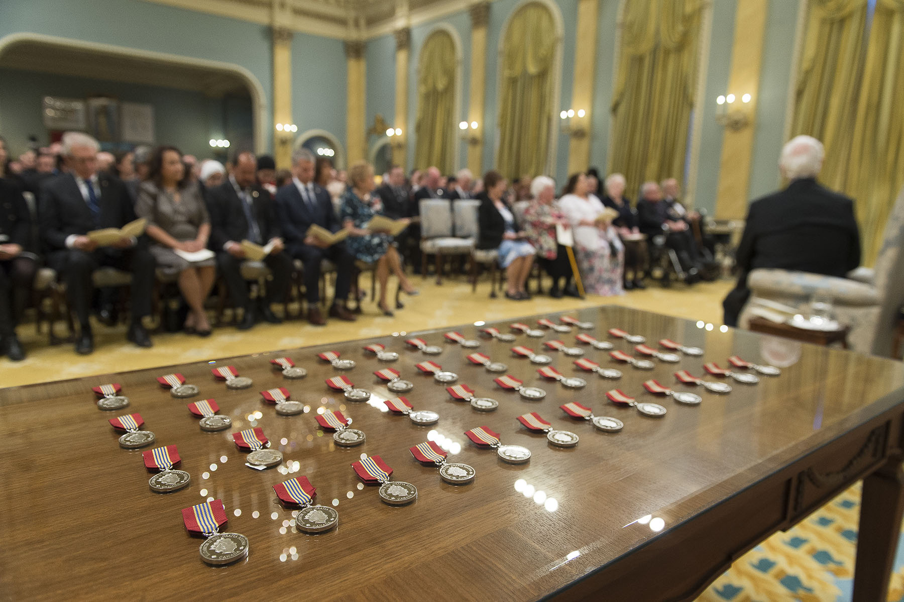 To kick off National Volunteer Week, the Governor General presented the Sovereign's Medal for Volunteers to 46 individuals during a ceremony at Rideau Hall.