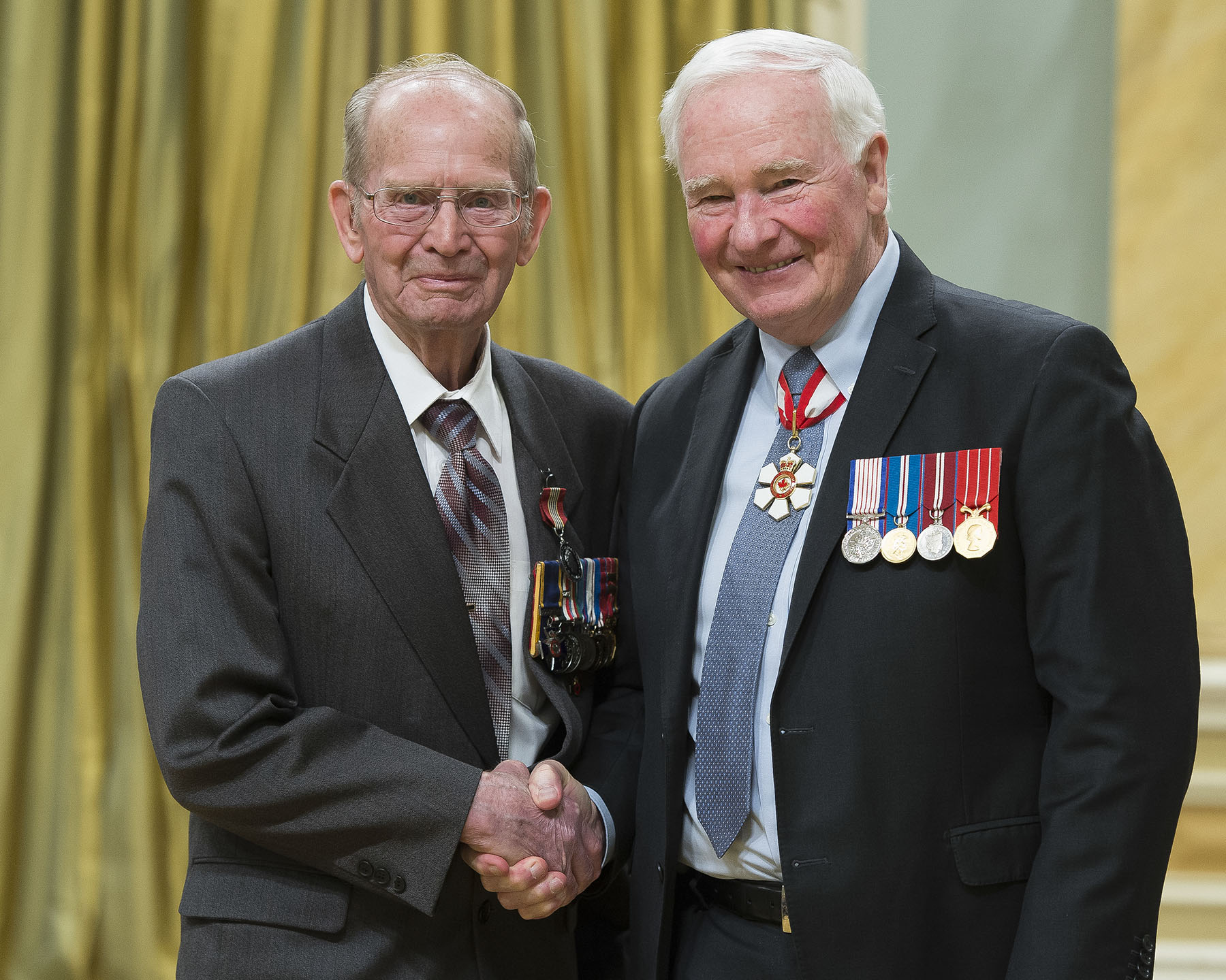 Harvey Shevalier has been an energetic volunteer in every community he has called home. He has been involved with such organizations as Scouts Canada, the Food Bank and the Legion; additionally, he was a driving force behind the introduction of veterans' licence plates in Alberta, and a key player in having a major highway renamed the Veterans Memorial Highway.