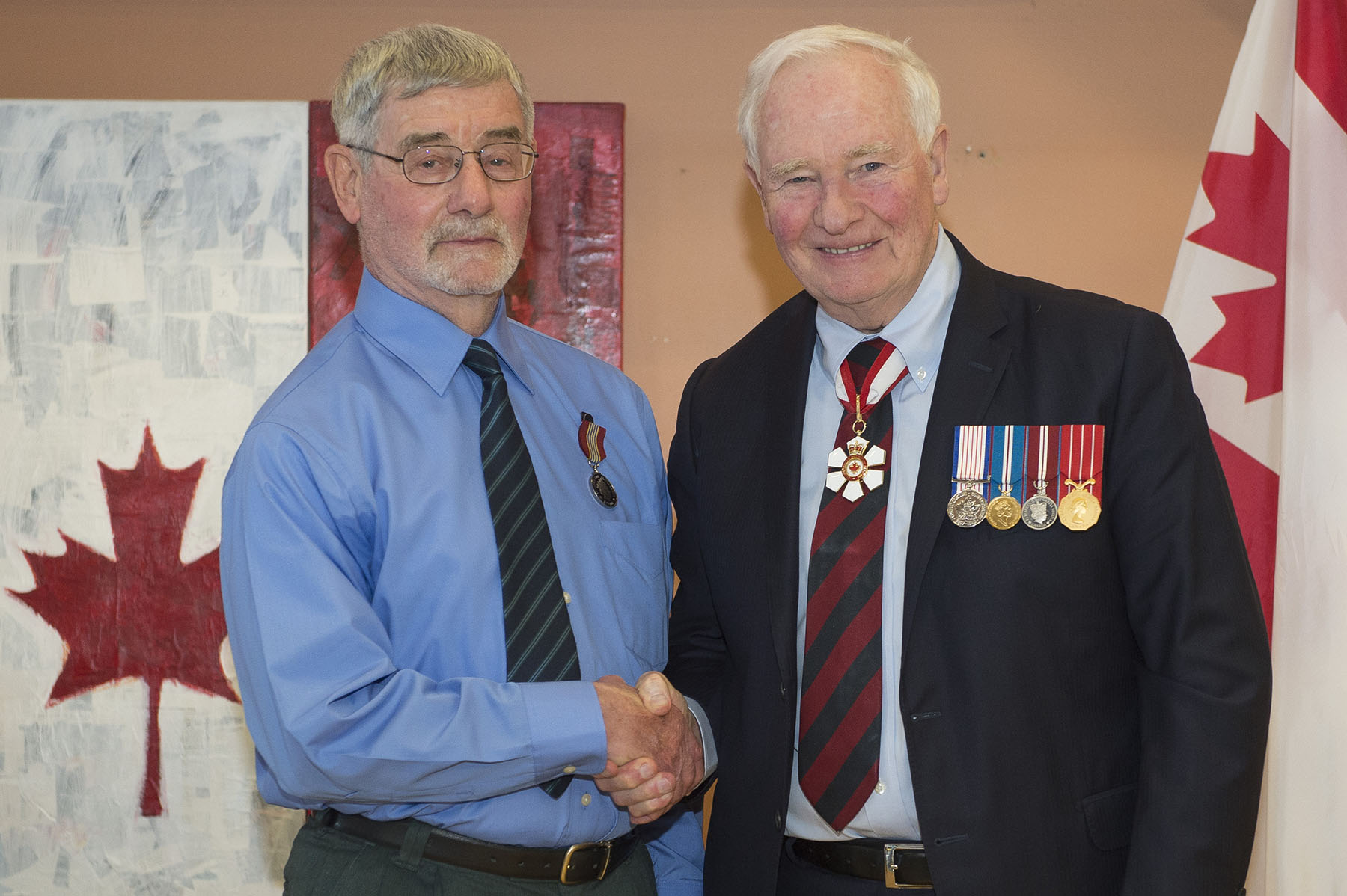 Mr. Dave Hamel was presented the Sovereign's Medal for Volunteers for his work over the past 19 years. Dave Hamel has contributed over 12 000 hours volunteering with the Perley and Rideau Veterans' Health Centre where he oversees three woodworking programs attended by hundreds of residents.