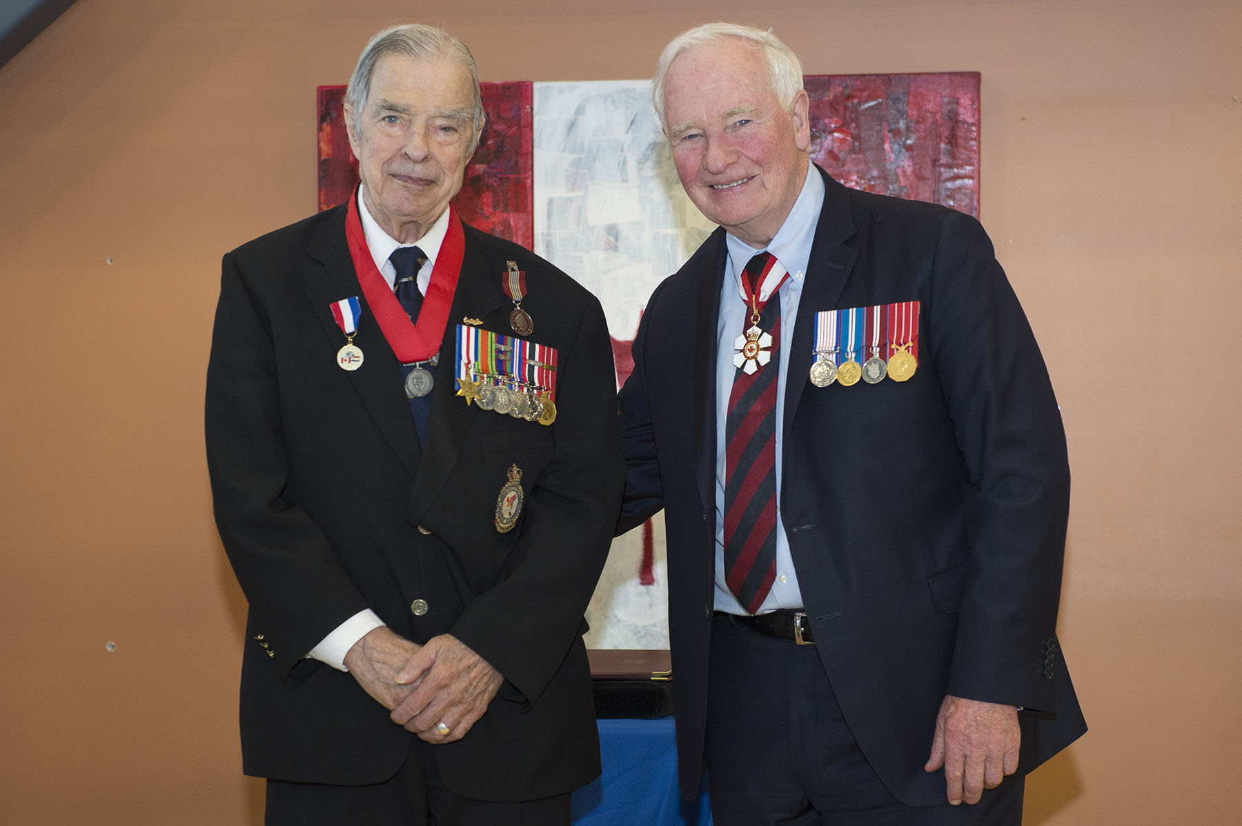 Mr. François Savard was presented the Sovereign's Medal for Volunteers for his work at the Perley and Rideau Veterans' Home. For the past 25 years, he has regularly visited residents in long-term care and helped to chronicle and preserve veterans' stories.
