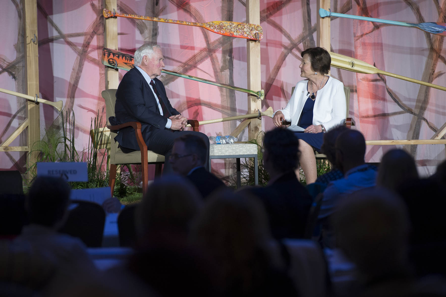 Following his remarks, His Excellency and Sandra Richardson, CEO of Victoria Foundation, had an on-stage conversation about the importance of community foundations.