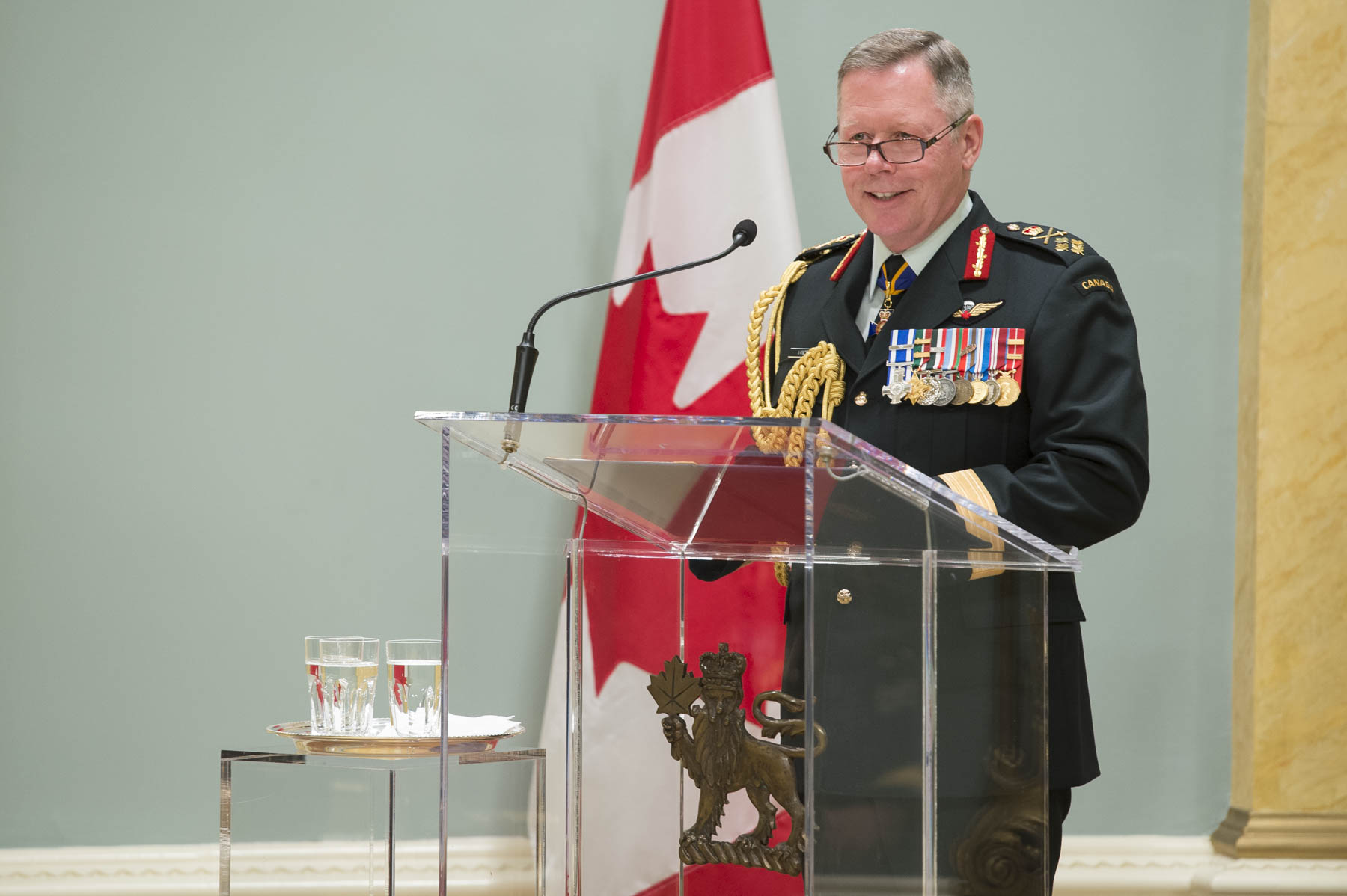 Chief of the Defence Staff General Jonathan Vance congratulated members that were honoured during the ceremony.
