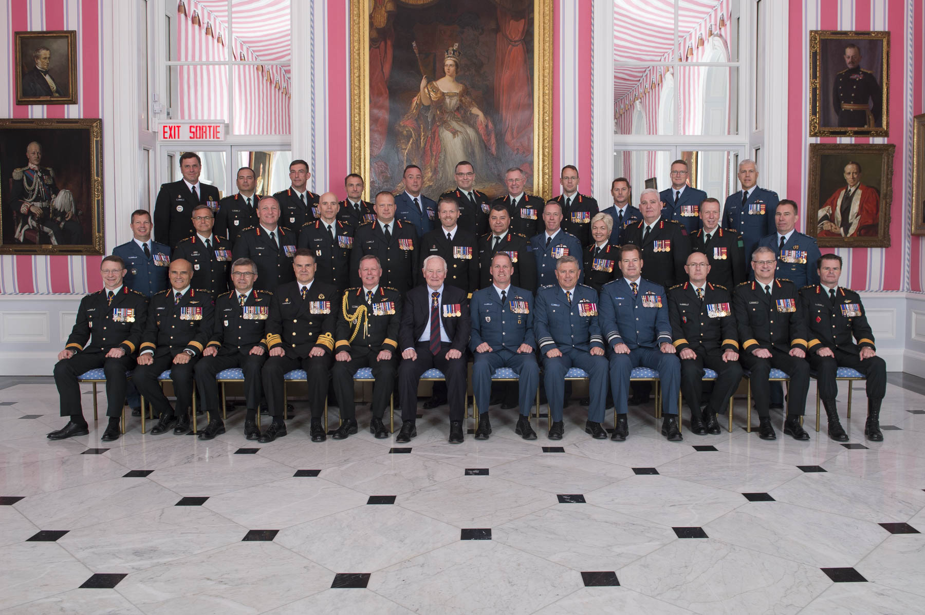 Twenty-three Canadian Armed Forces members received their scrolls from the Governor General and the Chief of the Defense Staff.