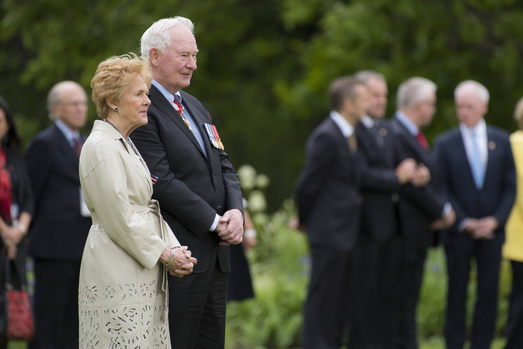 Their Excellencies the Right Honourable David Johnston, Governor General of Canada, and Her Excellency Sharon Johnston officially welcomed Her Excellency Michelle Bachelet, President of Chile, to Rideau Hall, on June 5, 2017.