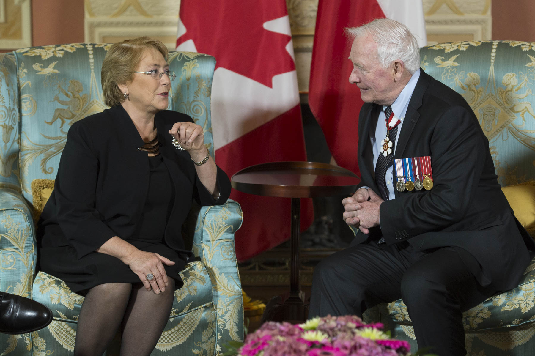 This meeting between the Governor General and the President allowed for discussions on Canada-Chile relationships.