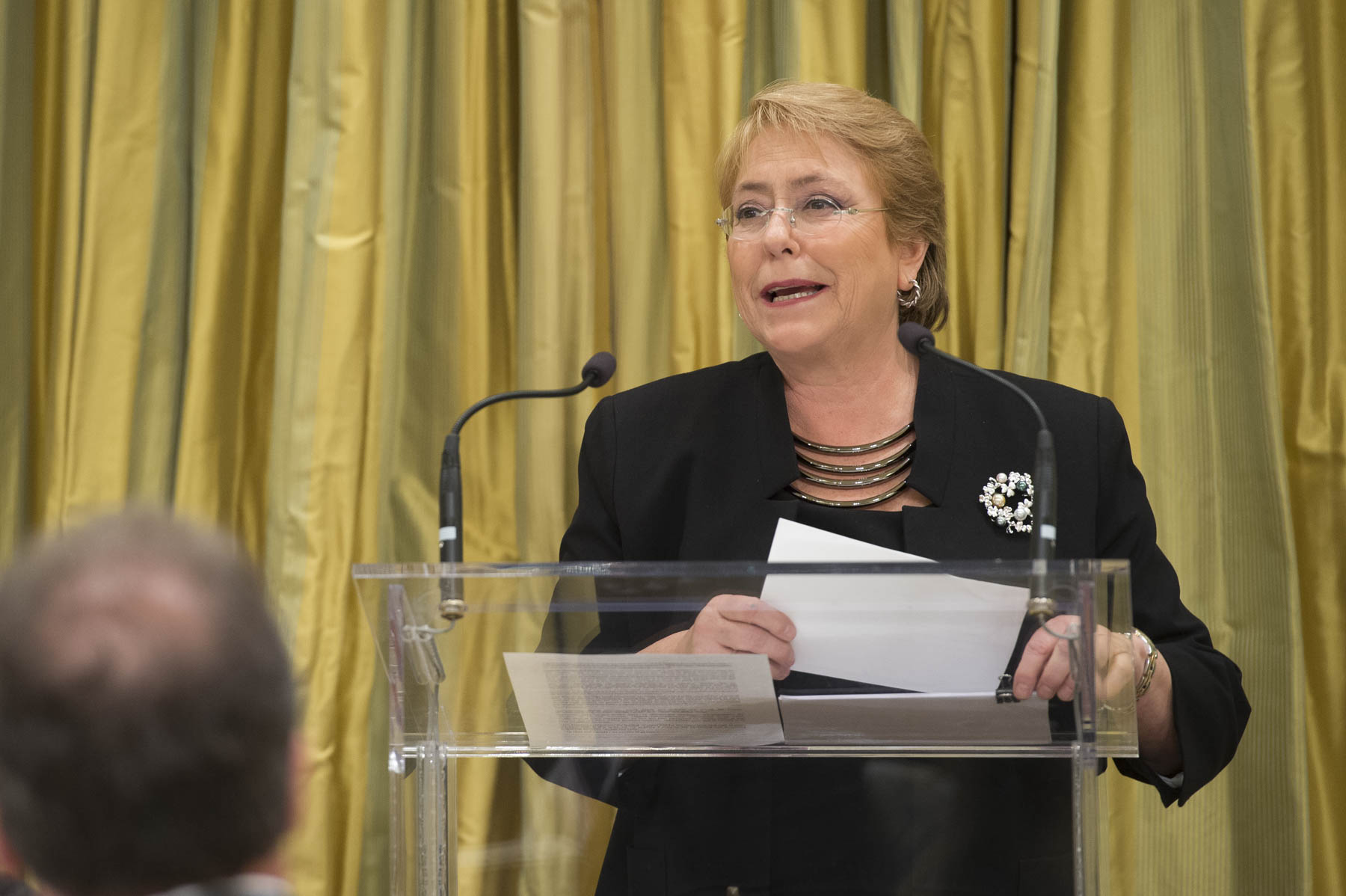 President Bachelet also said a few words.