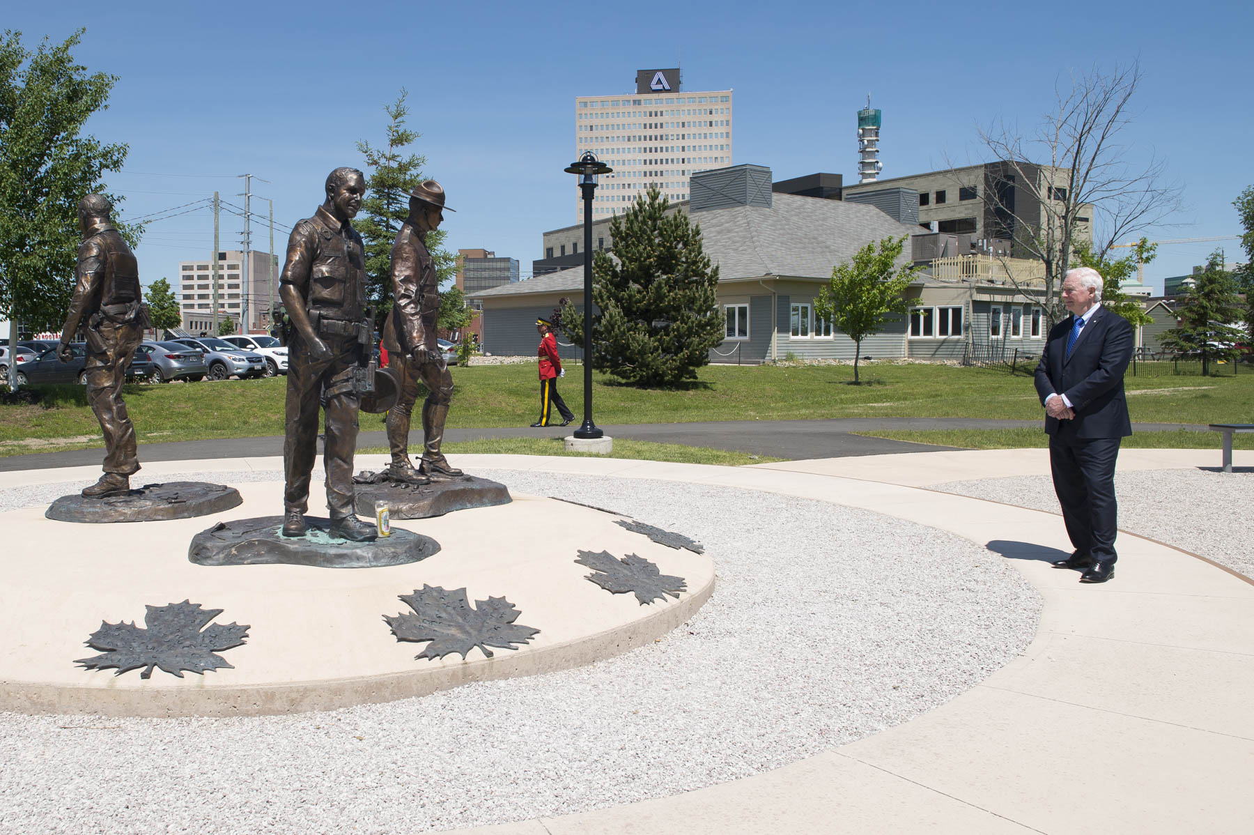 The Governor General visited the RCMP Memorial that pays tribute to 3 fallen members, killed on June 4, 2014.
