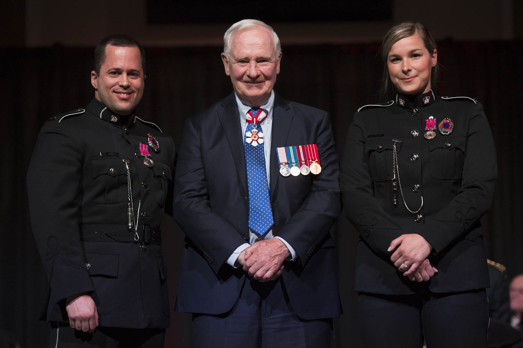 His Excellency presented the Medal of Bravery to Constable Stephanie Pelley, M.B. and 