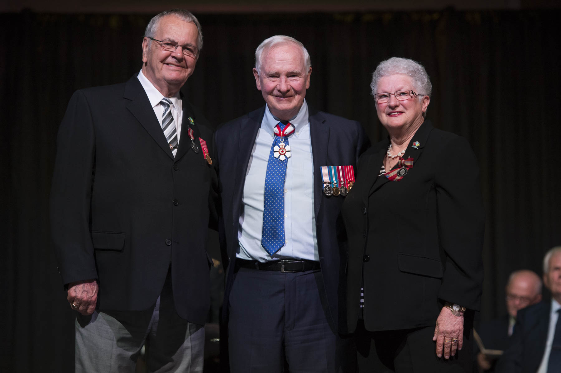 His Excellency presented the Sovereign's Medal for Volunteers to Jacques (Chuck) Lavoie and Norma Jeanne Lavoie who, since 2005, have had a positive influence on families in the Moncton area. They have promoted cancer awareness through the LIVESTRONG Foundation and the Canadian Cancer Society's Relay for Life, and helped citizens in need through the Vestiaire St. Joseph Food Bank.