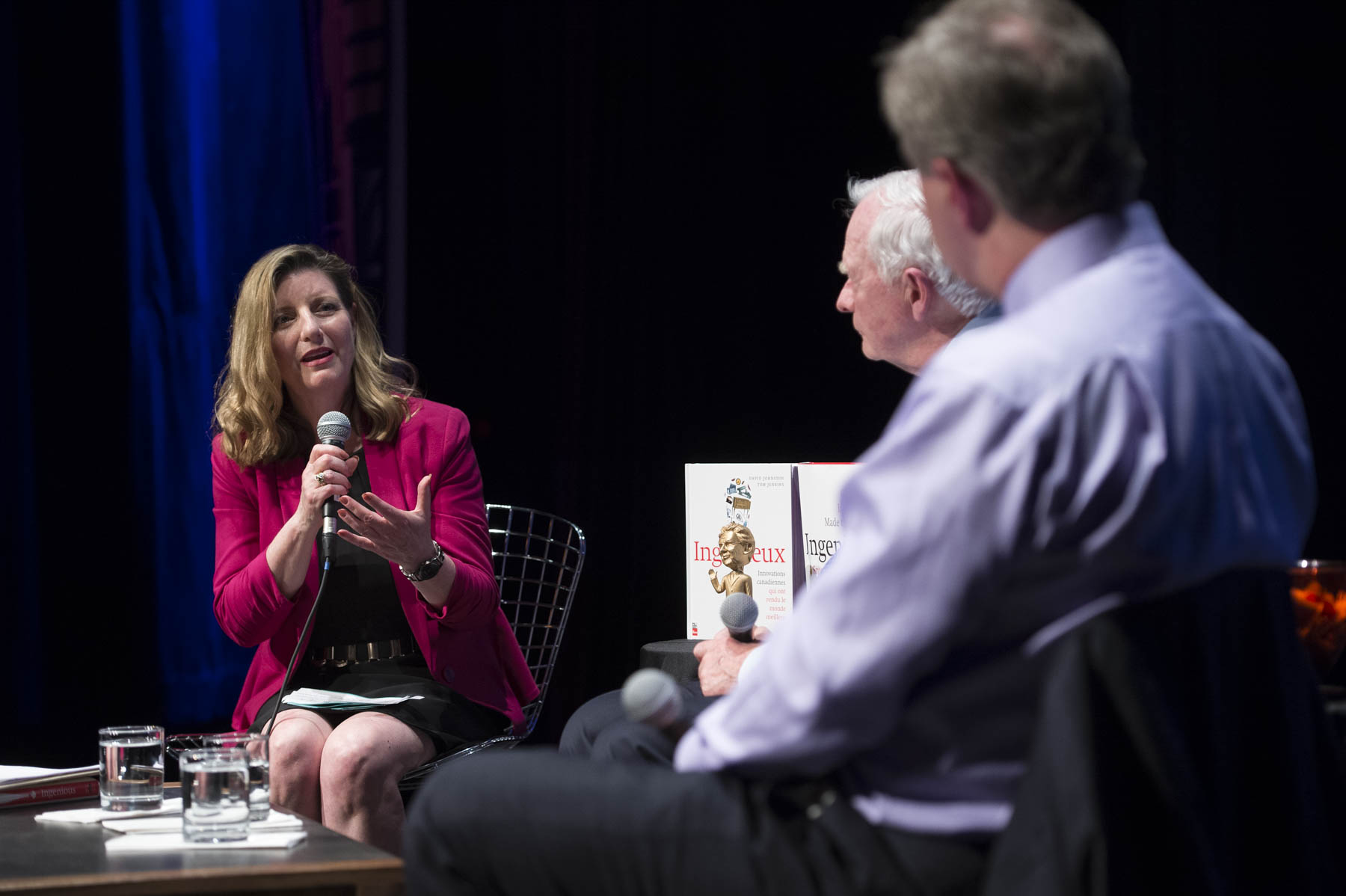 The on-stage conversation was hosted by local broadcaster Christine McLean.