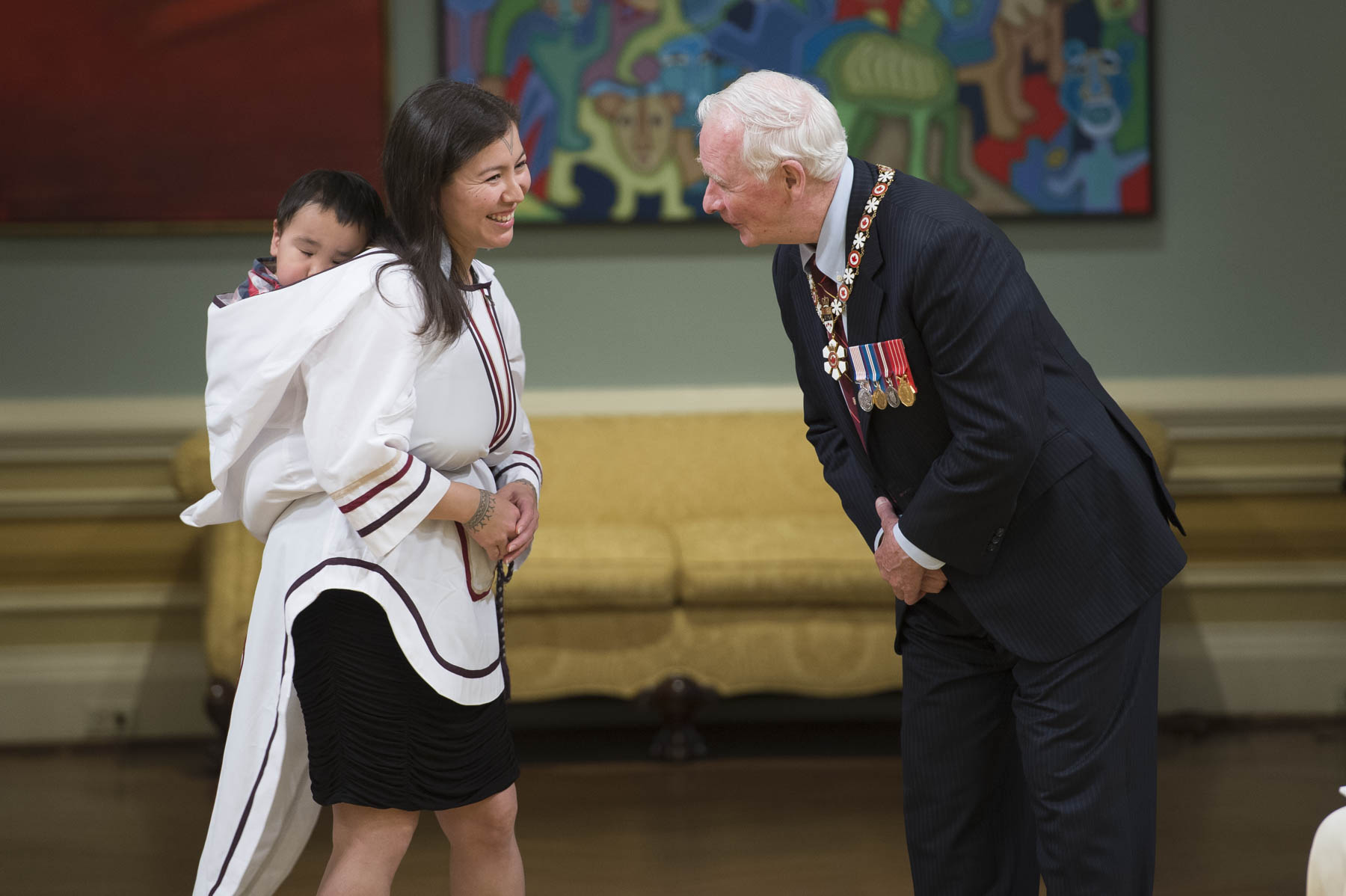 Alethea Arnaquq-Baril received the Meritorious Service Cross (Civil Division). The founder of Unikkaat Studio Inc., Ms. Arnaquq-Baril inspires Inuit communities to reconnect with their ancestral values and lost traditions through her many films. Considered one of Canada's top female directors, she uses her films to document the Inuit language and culture in communities throughout Nunavut.