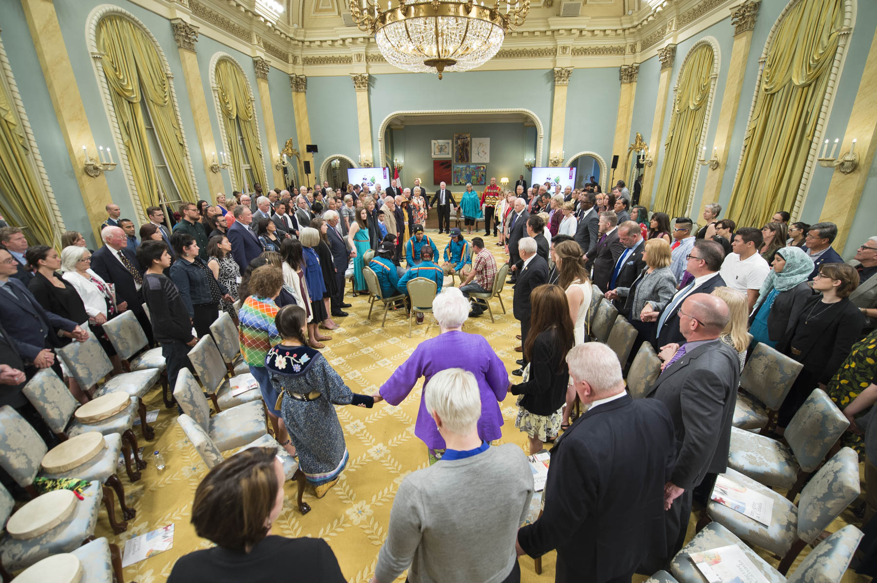 His Excellency recognized the final 13 selections from the Imagine a Canada initiative at Rideau Hall. The works of each participant were presented.