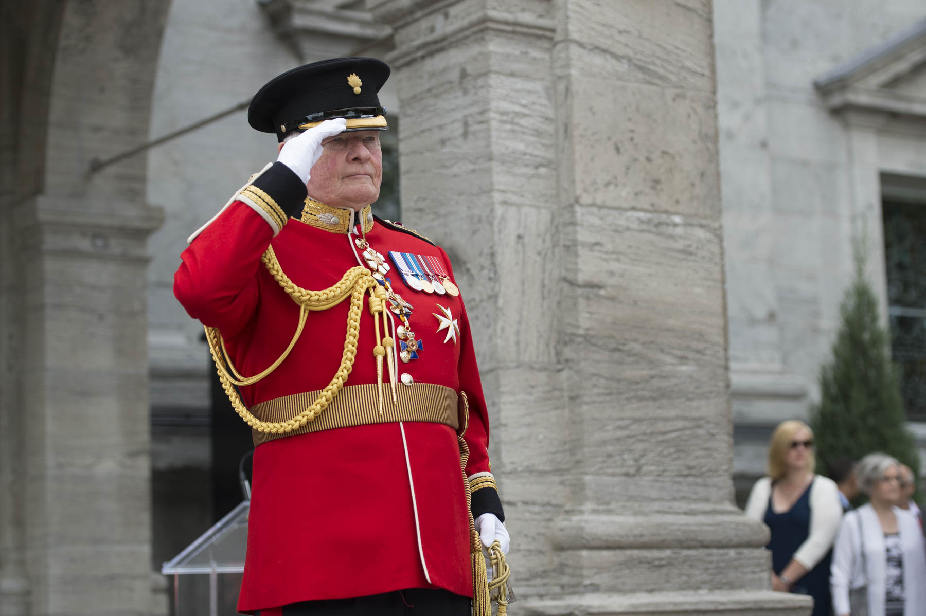 As commander-in-chief of Canada, the governor general plays a major role in recognizing the importance of Canada's military at home and abroad.