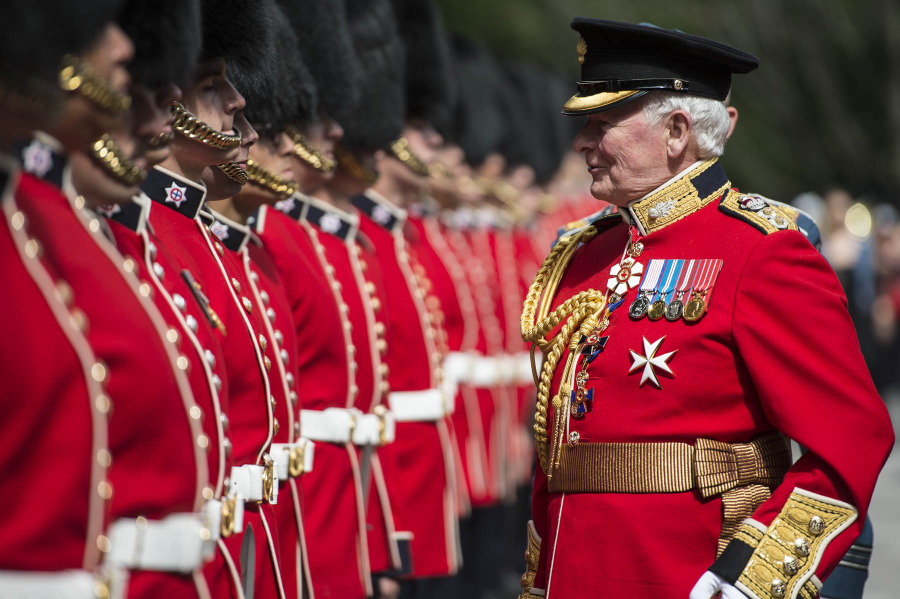 The Governor General and Commander-in-Chief inspected the Ceremonial Guard.