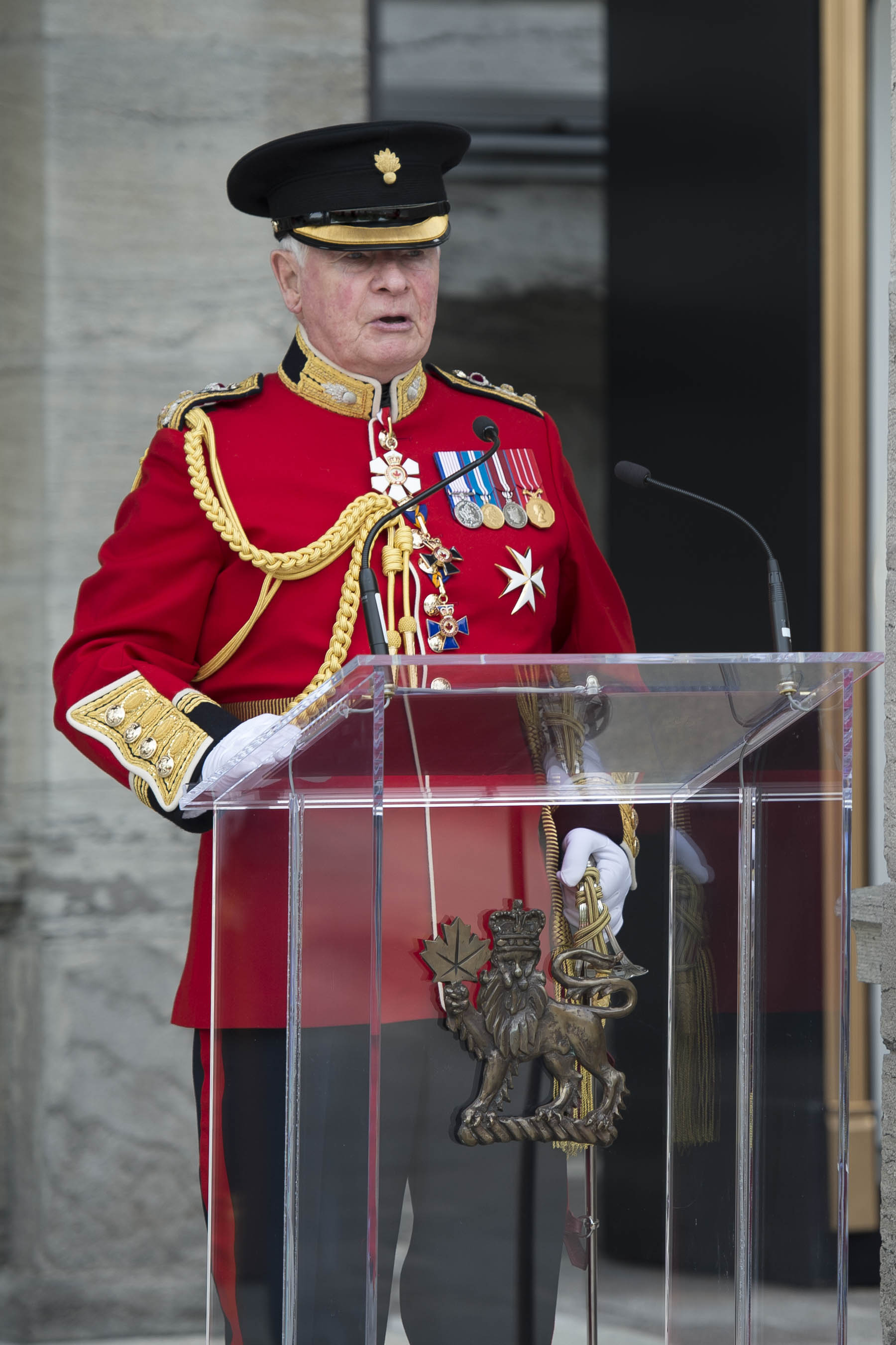 """You represent something exceptional to all of us,"" said His Excellency. ""You represent duty and honour and our values and traditions. And you capture our imaginations with pageantry and colour. Not to mention those really cool hats! We're so proud of you, who serve your country, who sacrifice so much."""