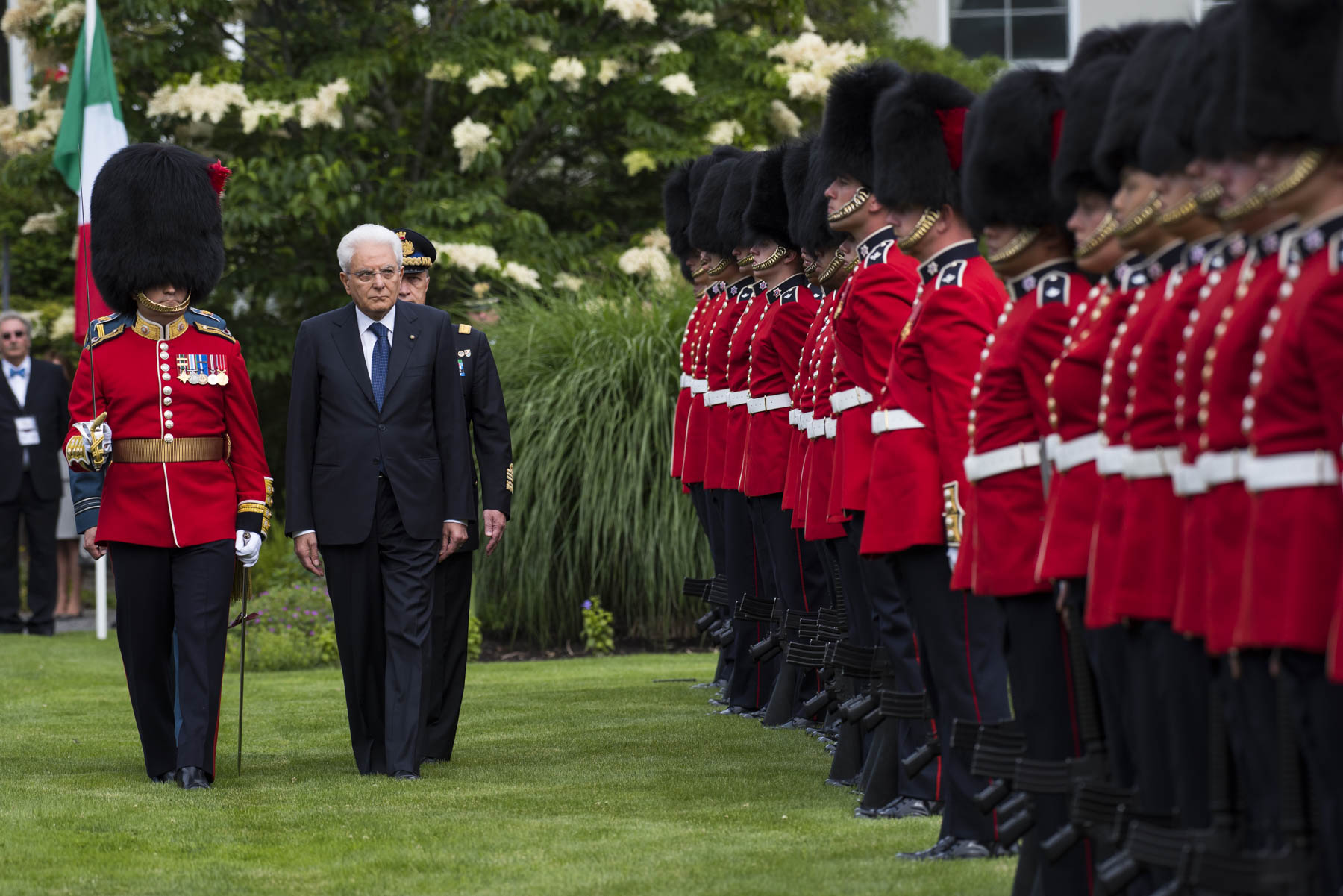 As part of the ceremony, he inspected the guard of honour.