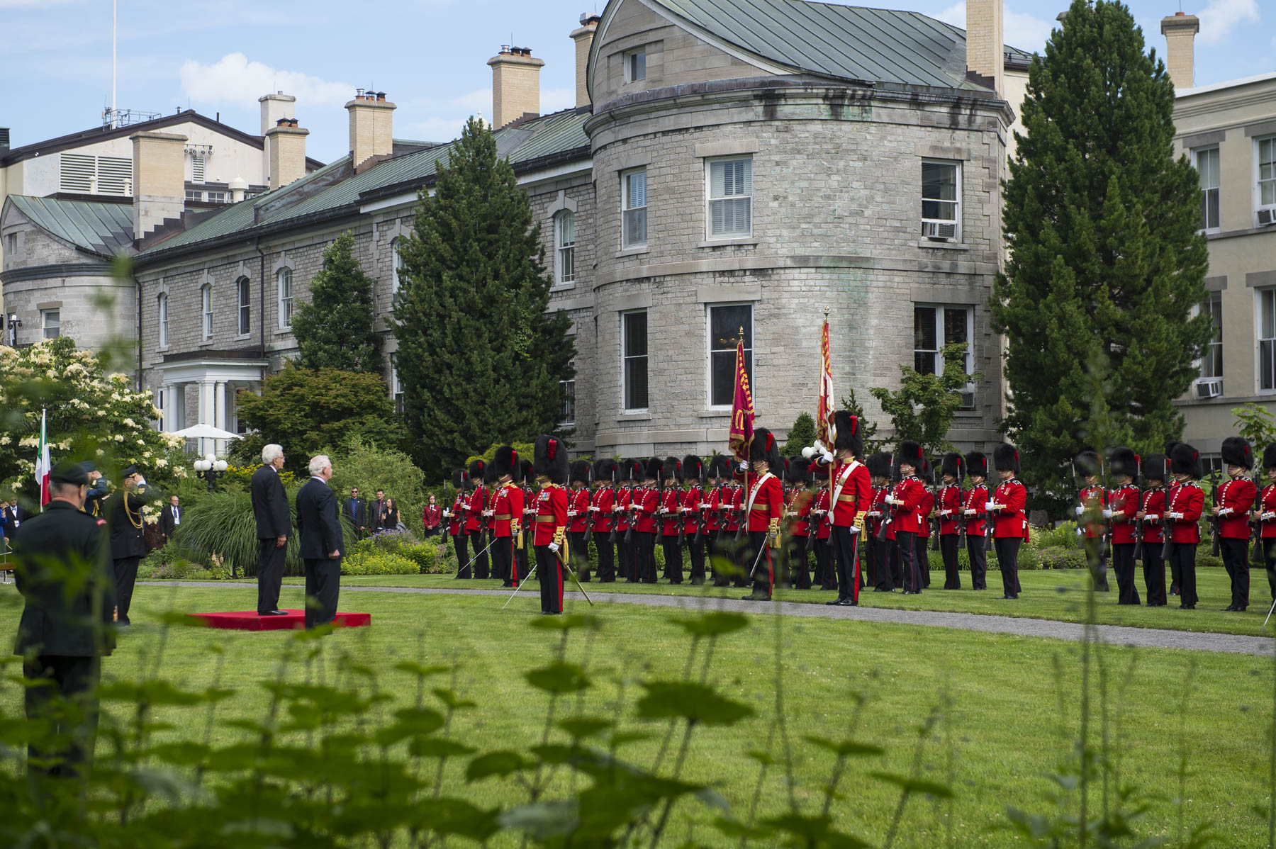 The ceremony took place in the gardens of Rideau Hall.