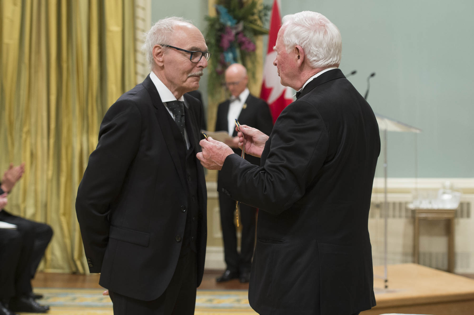 His Excellency presented the Lifetime Artistic Achievement Award to Jean Beaudin, film and television director and screenwriter.