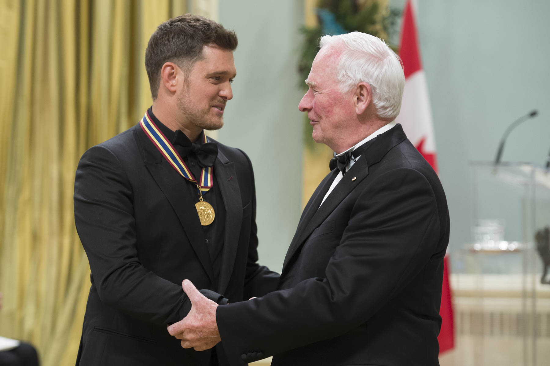 His Excellency presented The National Arts Centre Award to Michael Bublé, singer and entertainer.